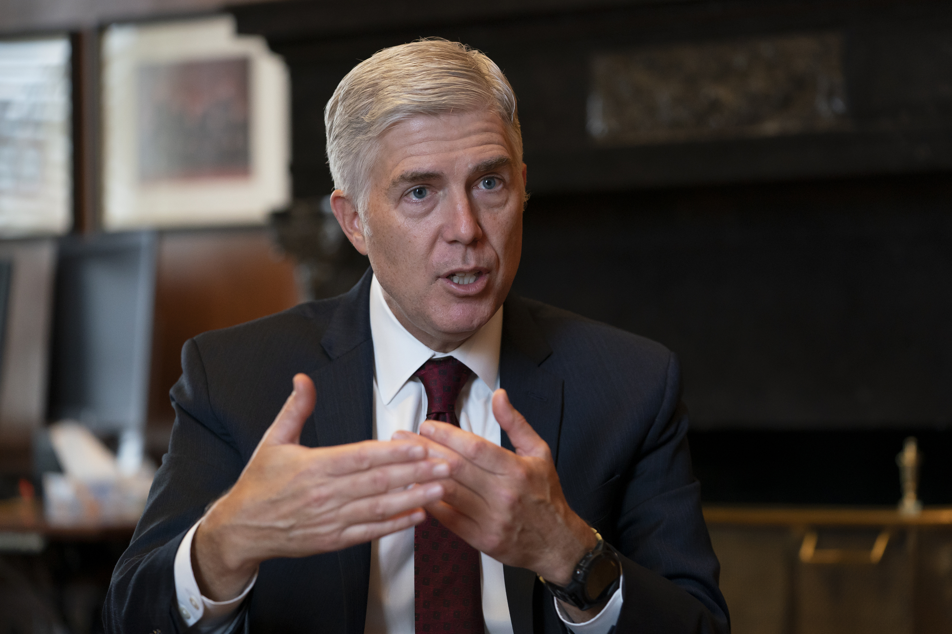 Gorsuch says US Supreme Court not split on partisan lines