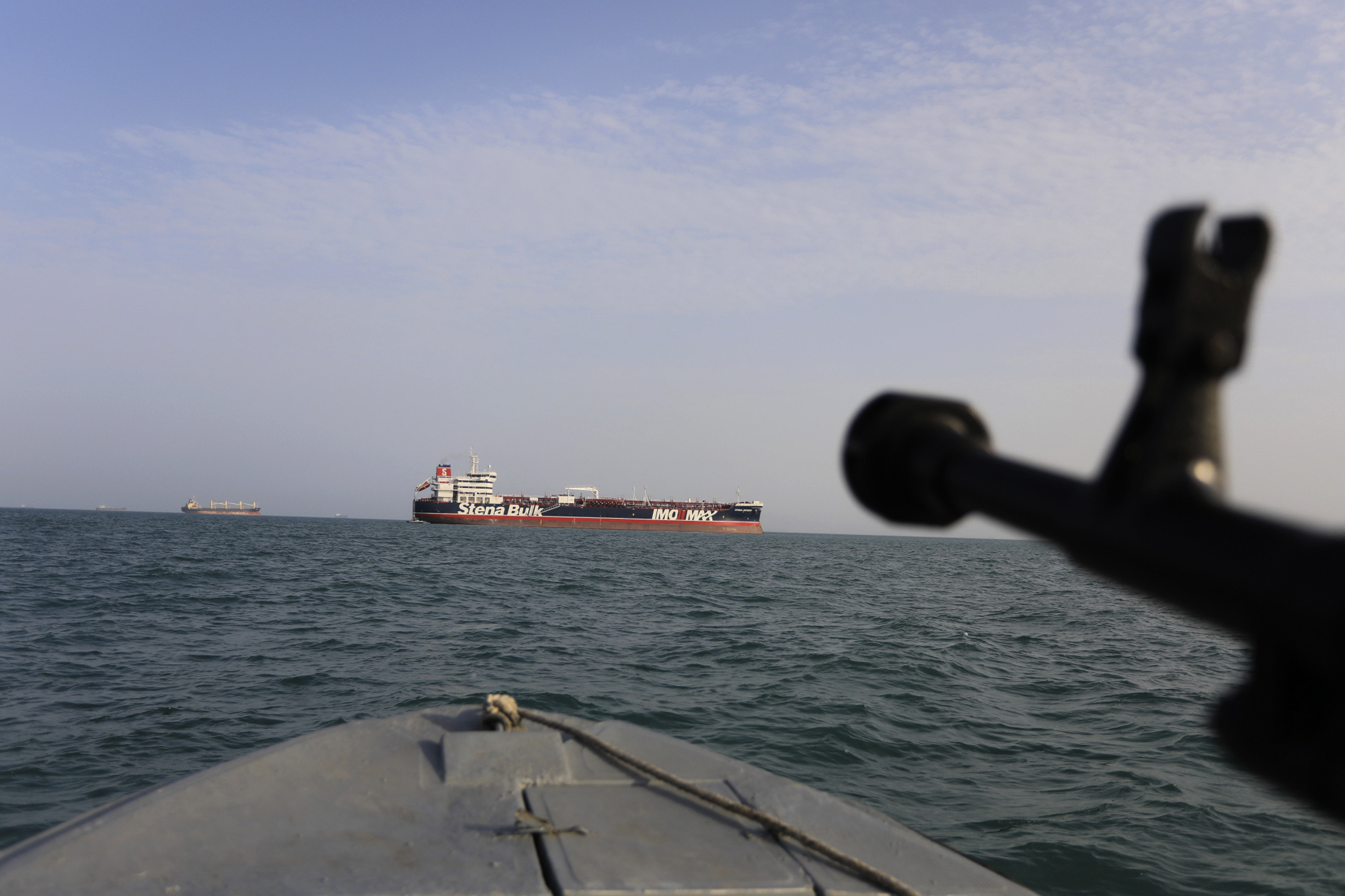 The Latest: Owner of UK ship seized by Iran contacts crew