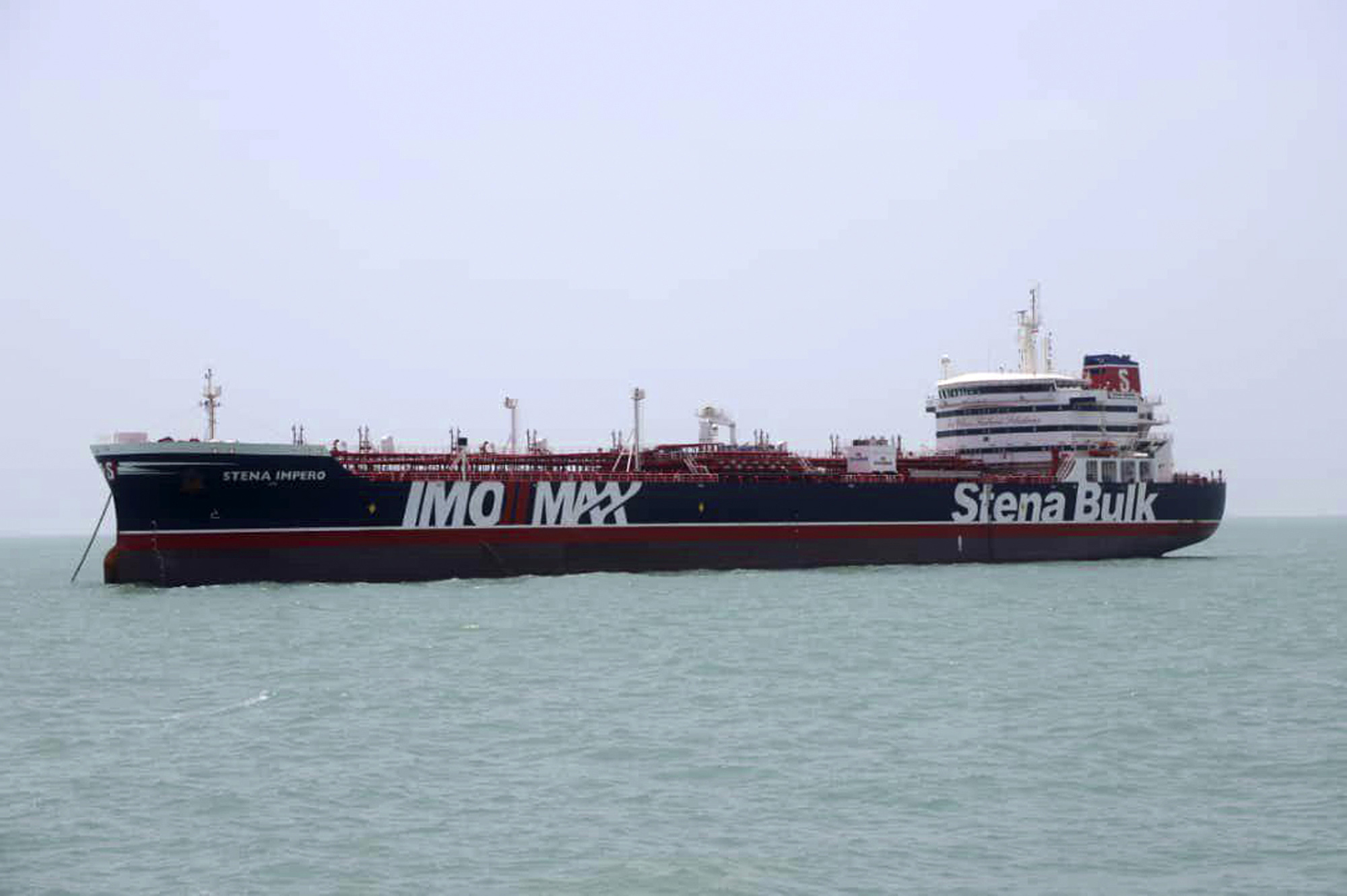 The Latest: Iran says detained UK-flagged tanker has left