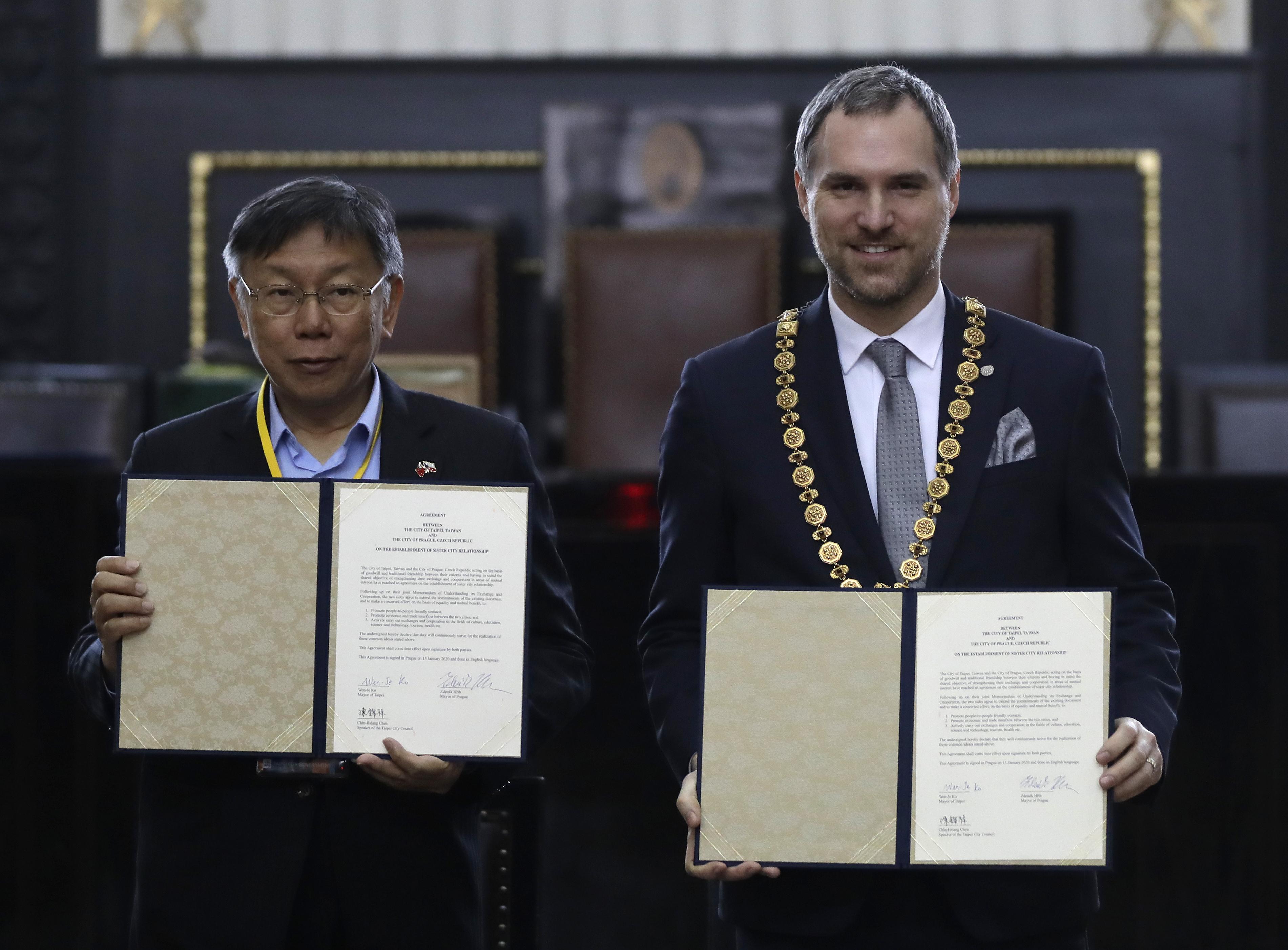Prague inks partnership with Taipei after snubbing Beijing