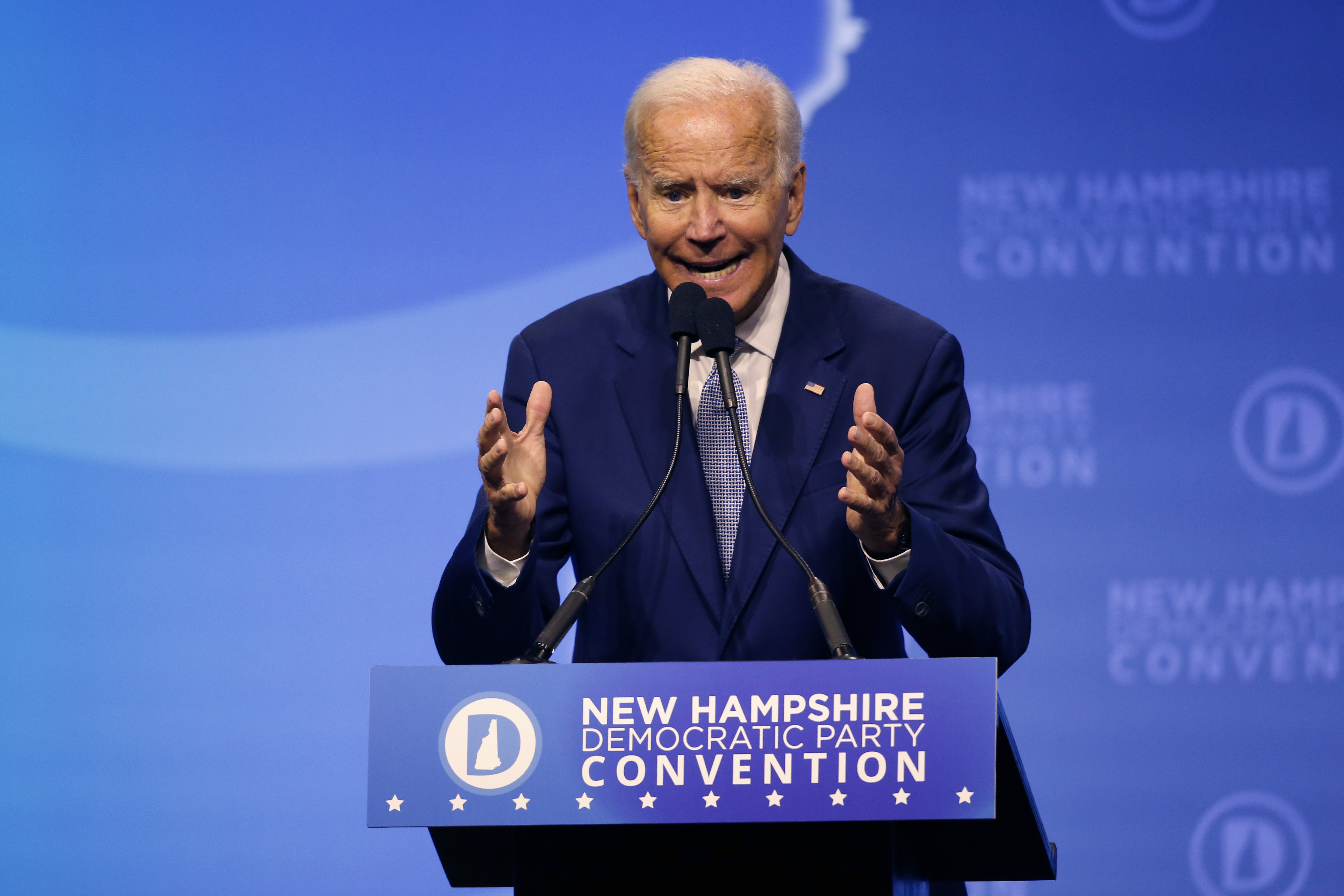 In NH, Biden lacks enthusiasm to match front-runner status