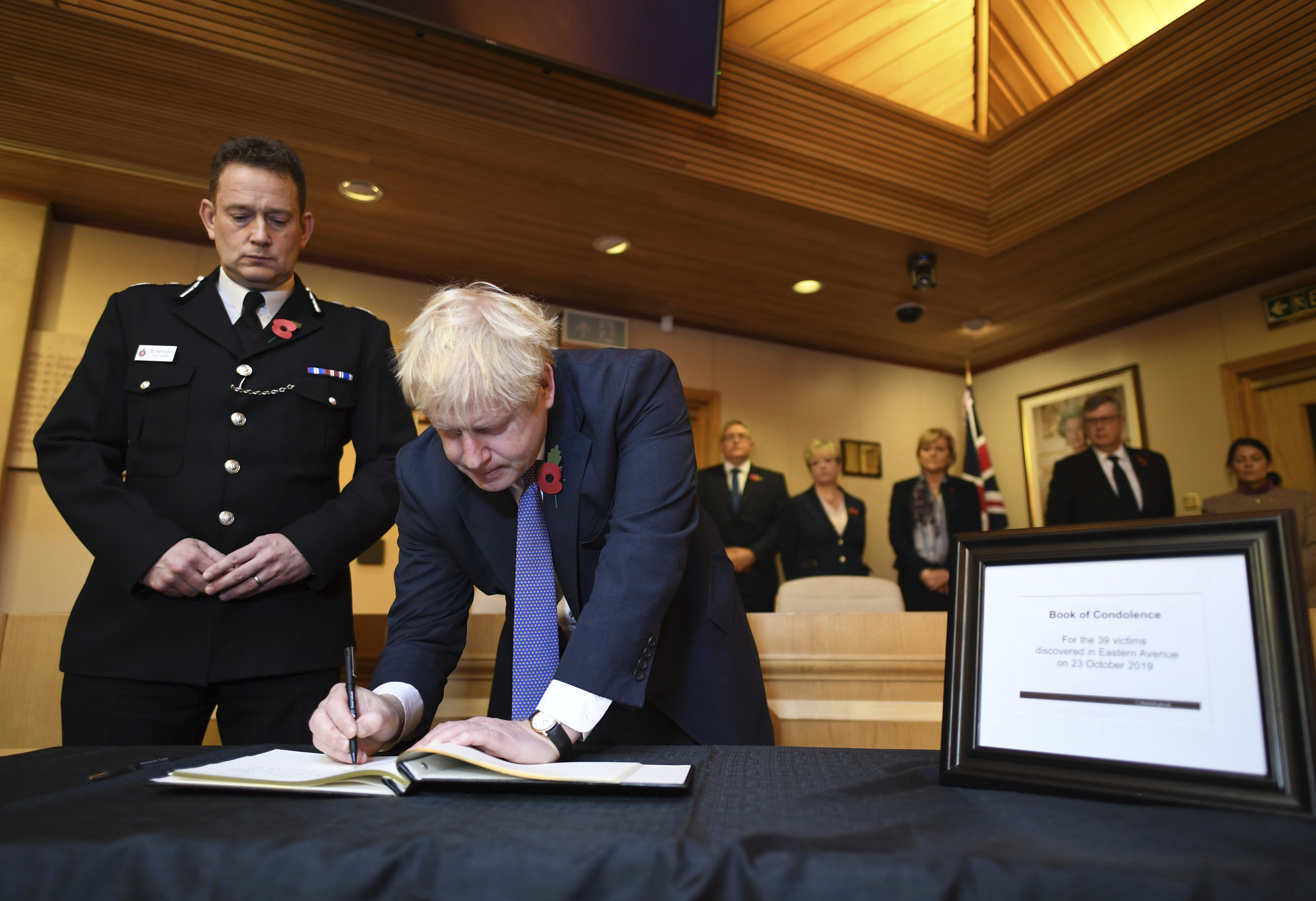 The Latest: UK leader condolences for 39 truck victims