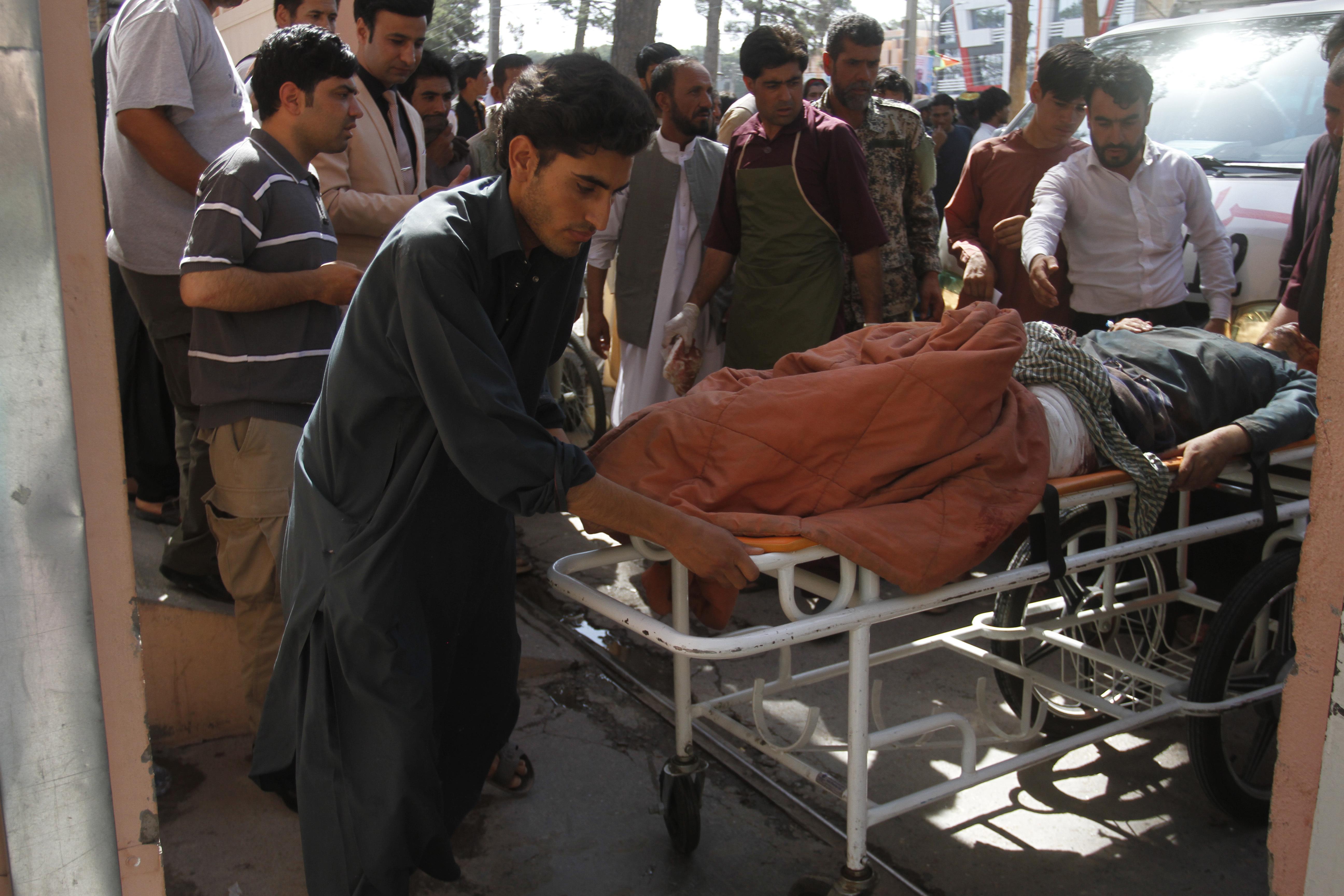 Bus hit by roadside bomb in Afghanistan, 32 killed
