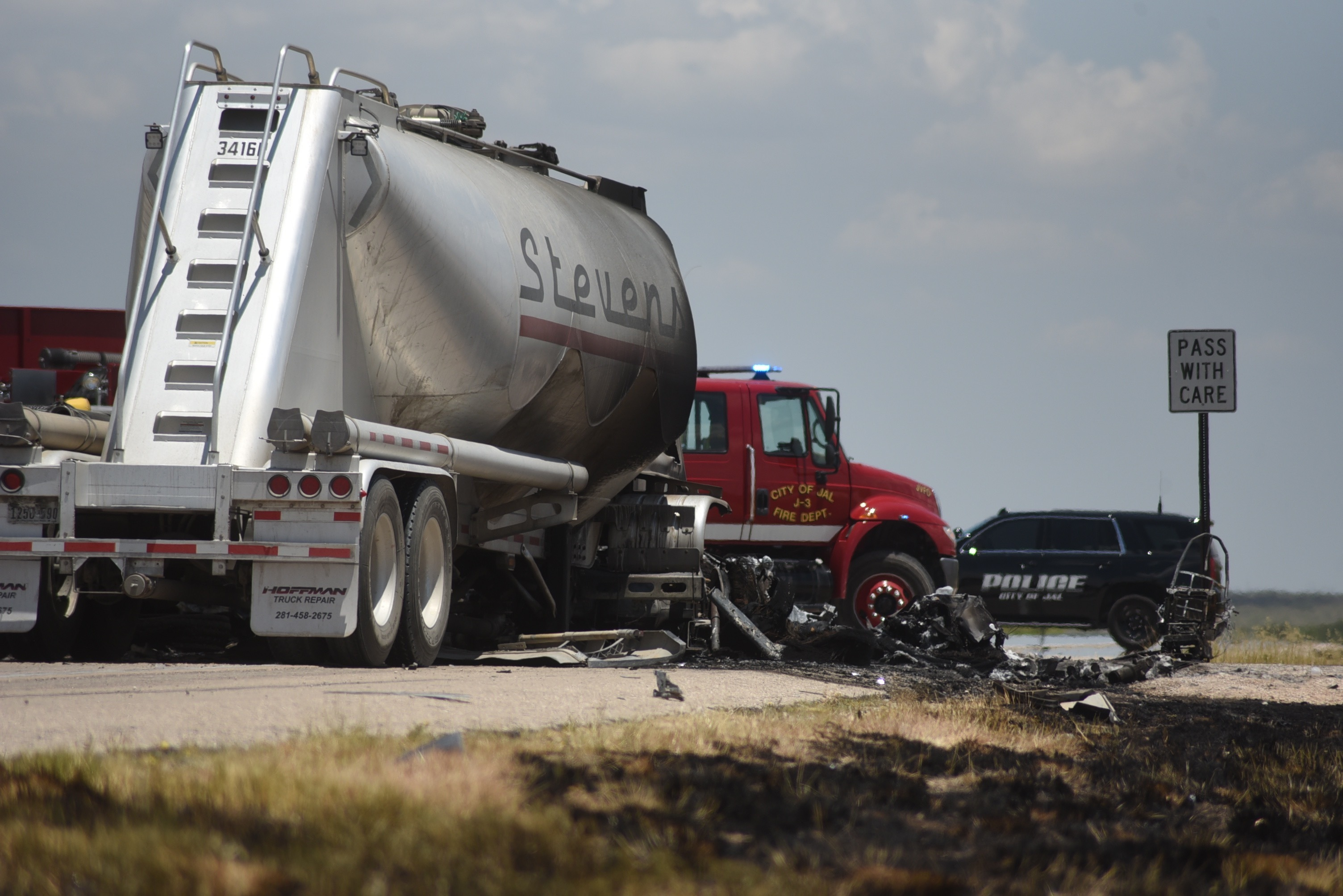 Police: Oilfield workers, truck driver killed in fiery crash
