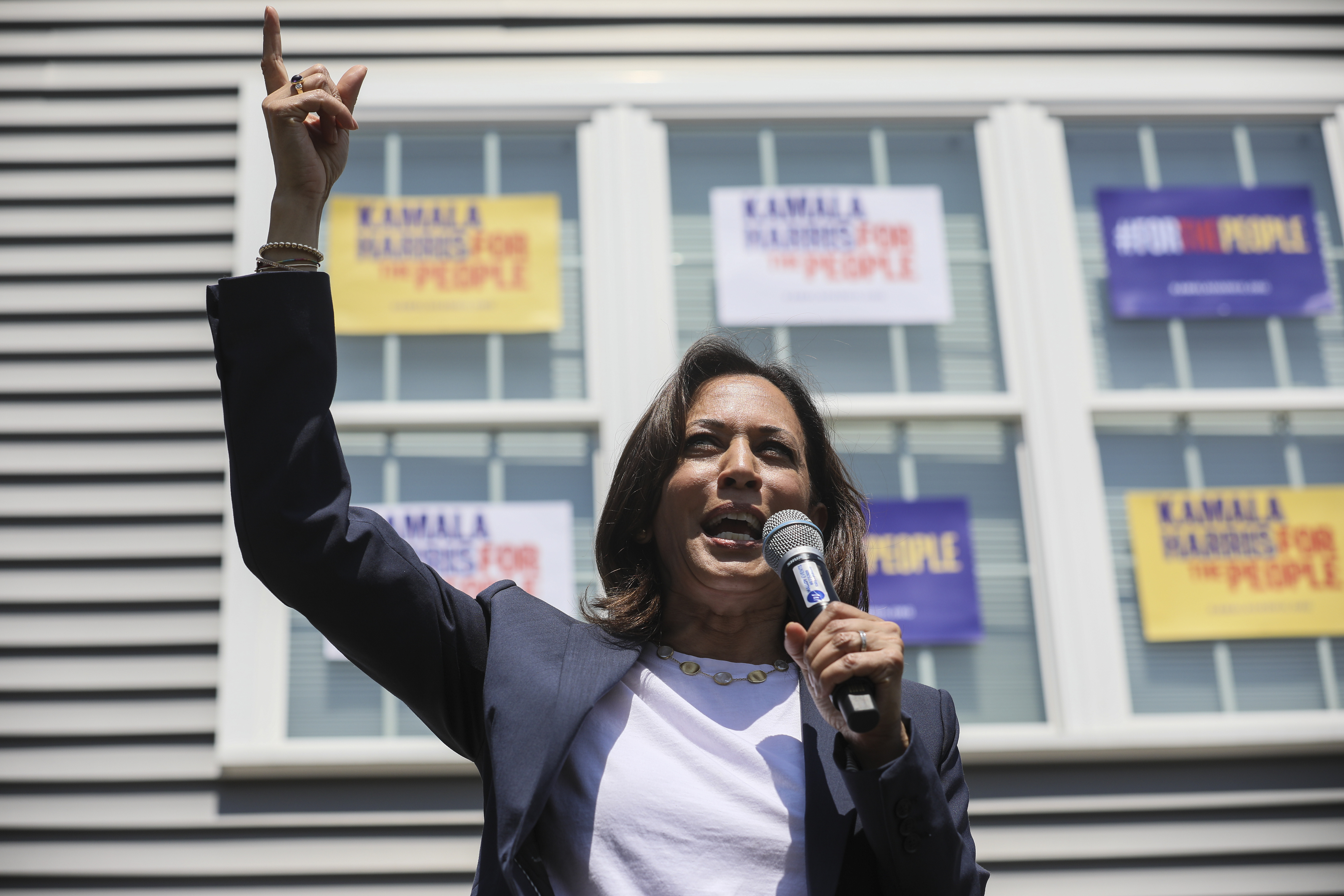 Harris blasts, and takes money from, Epsteins law firm