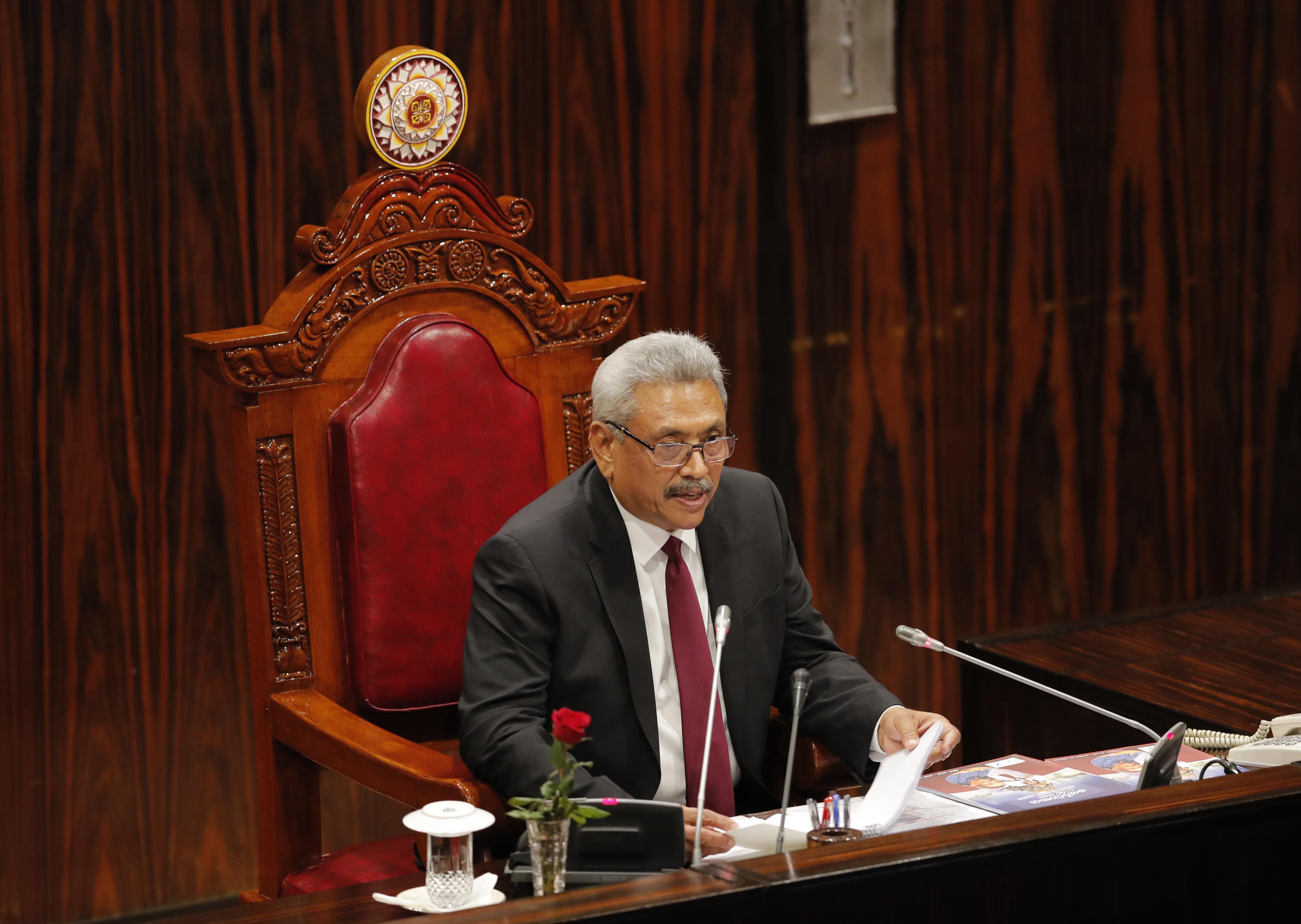 Sri Lanka president urges limit on minority political power
