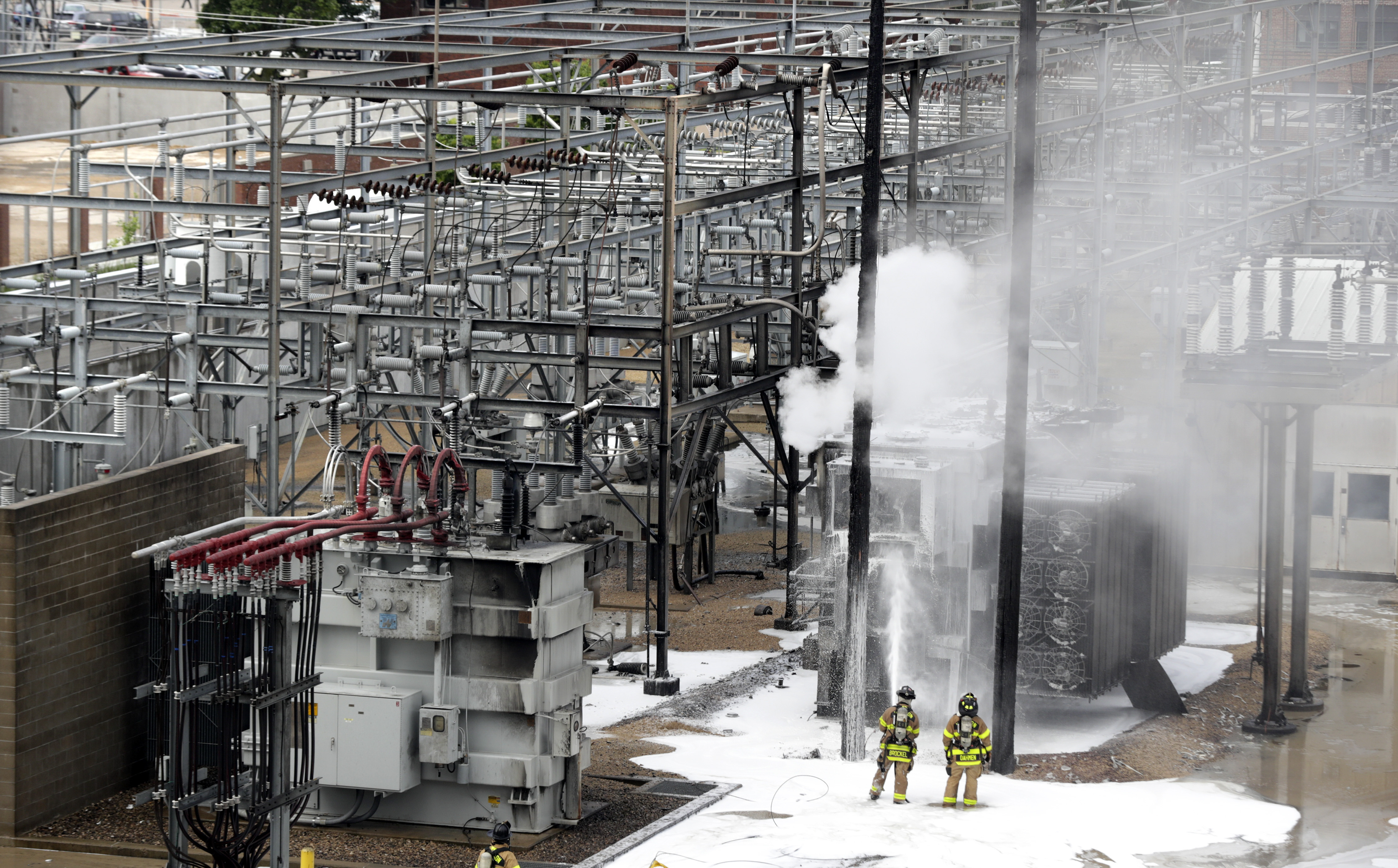 Power station fires knock out service on hot day in Madison