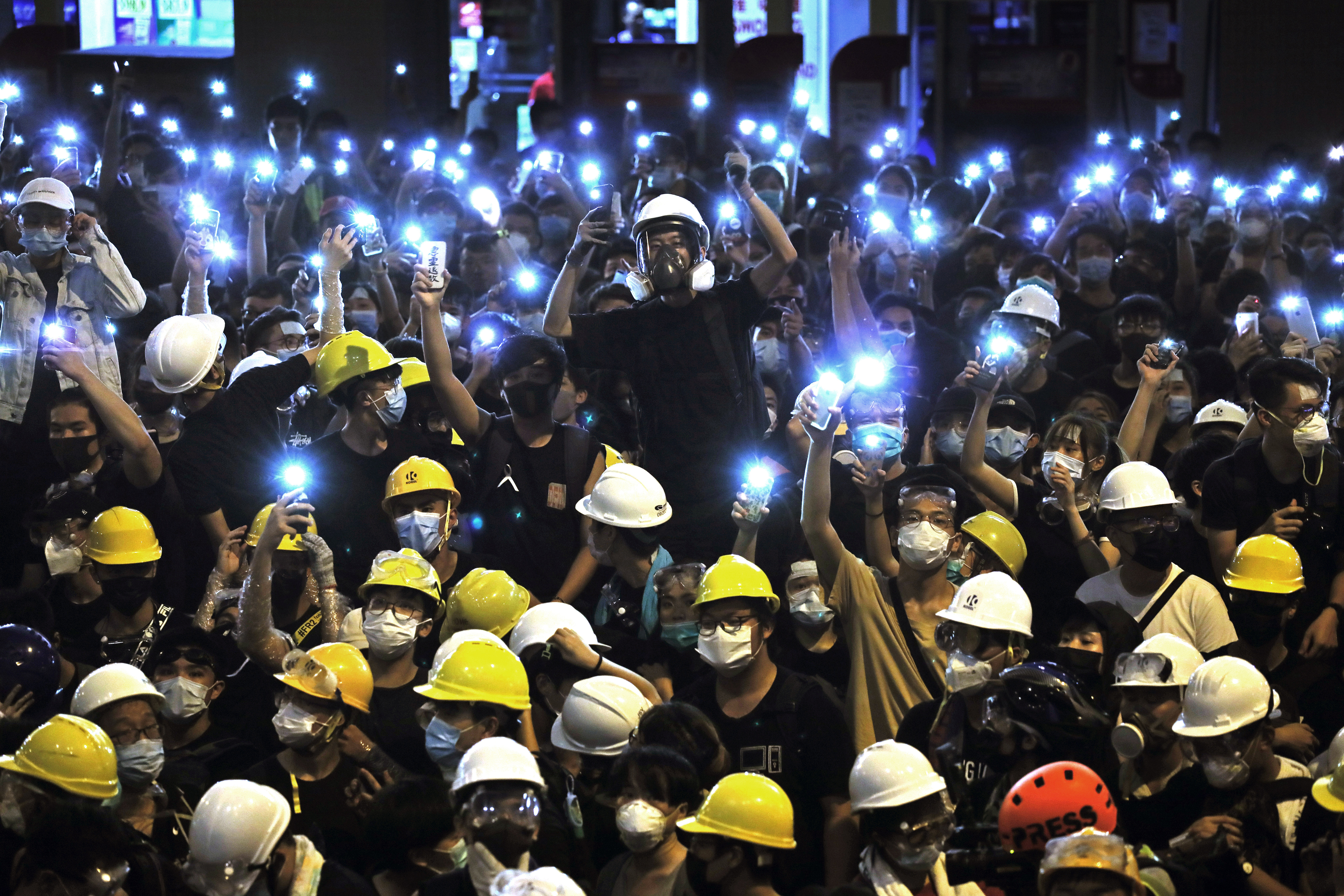 Hand signals and Post-its: The Hong Kong protester playbook