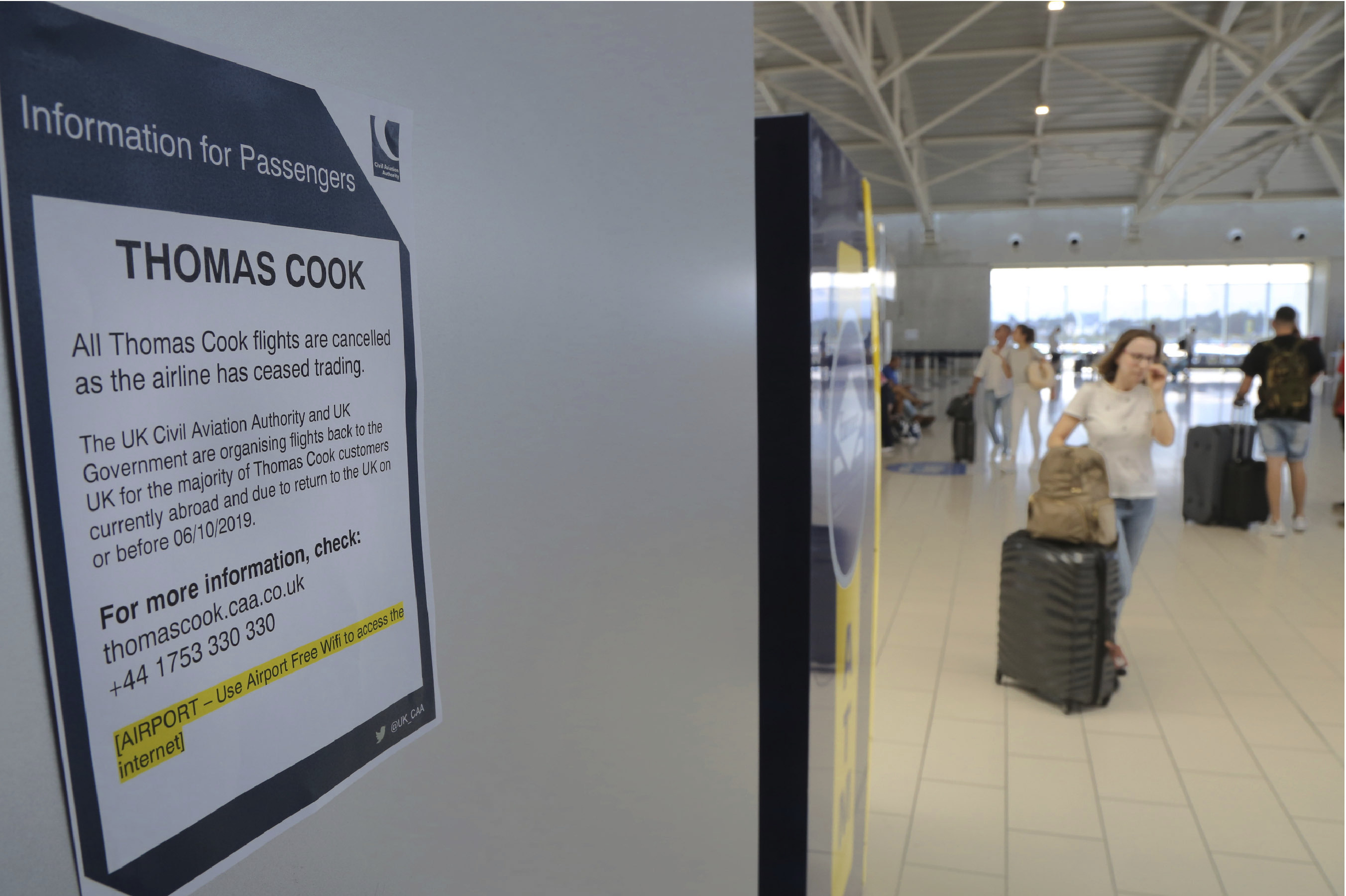The Latest: British PM questions Thomas Cook bosses pay