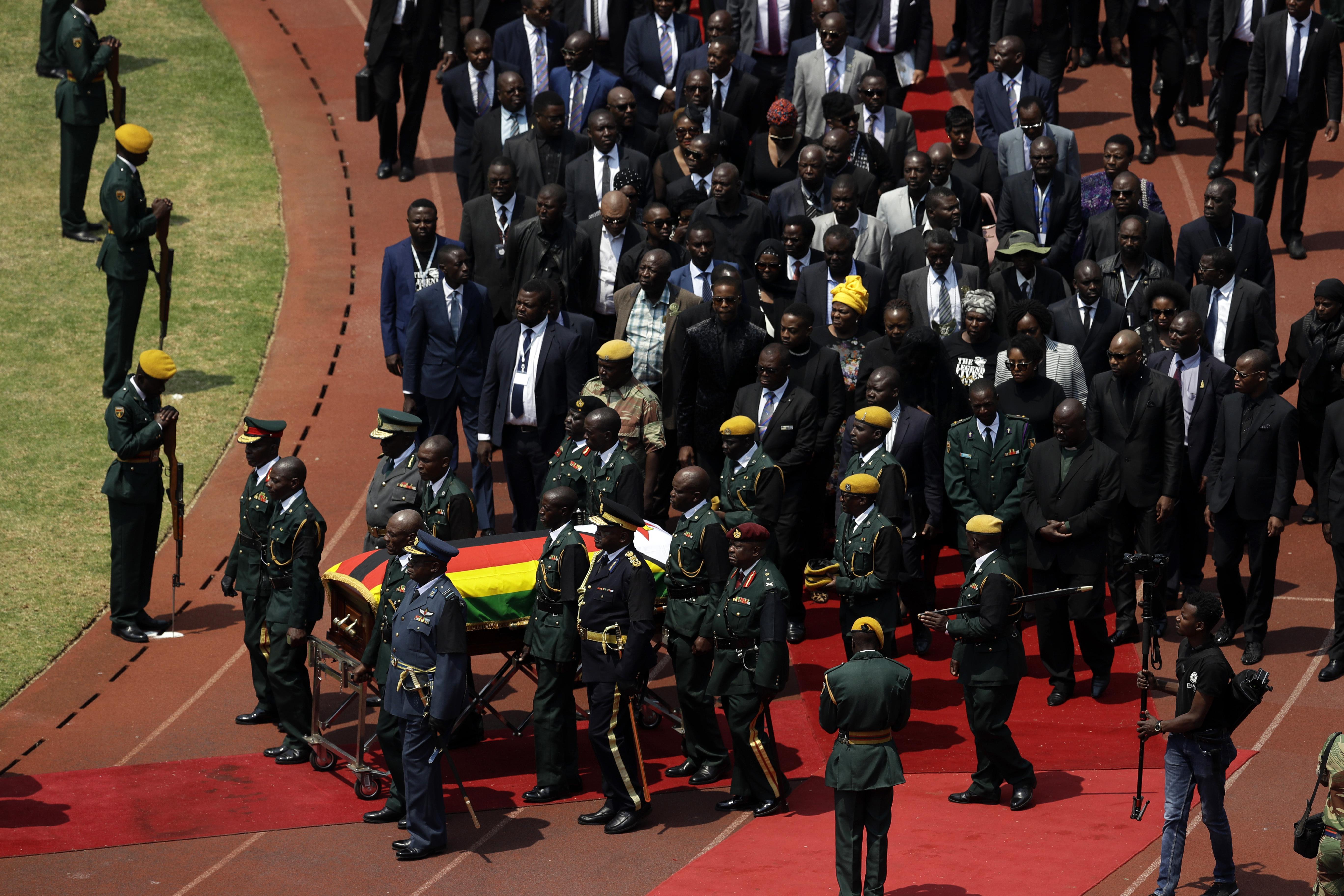 Zimbabwes Mugabe honored at state funeral, burial delayed