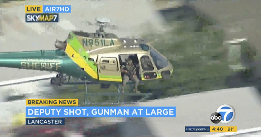 Shooter at large after LA deputy shot at sheriffs station