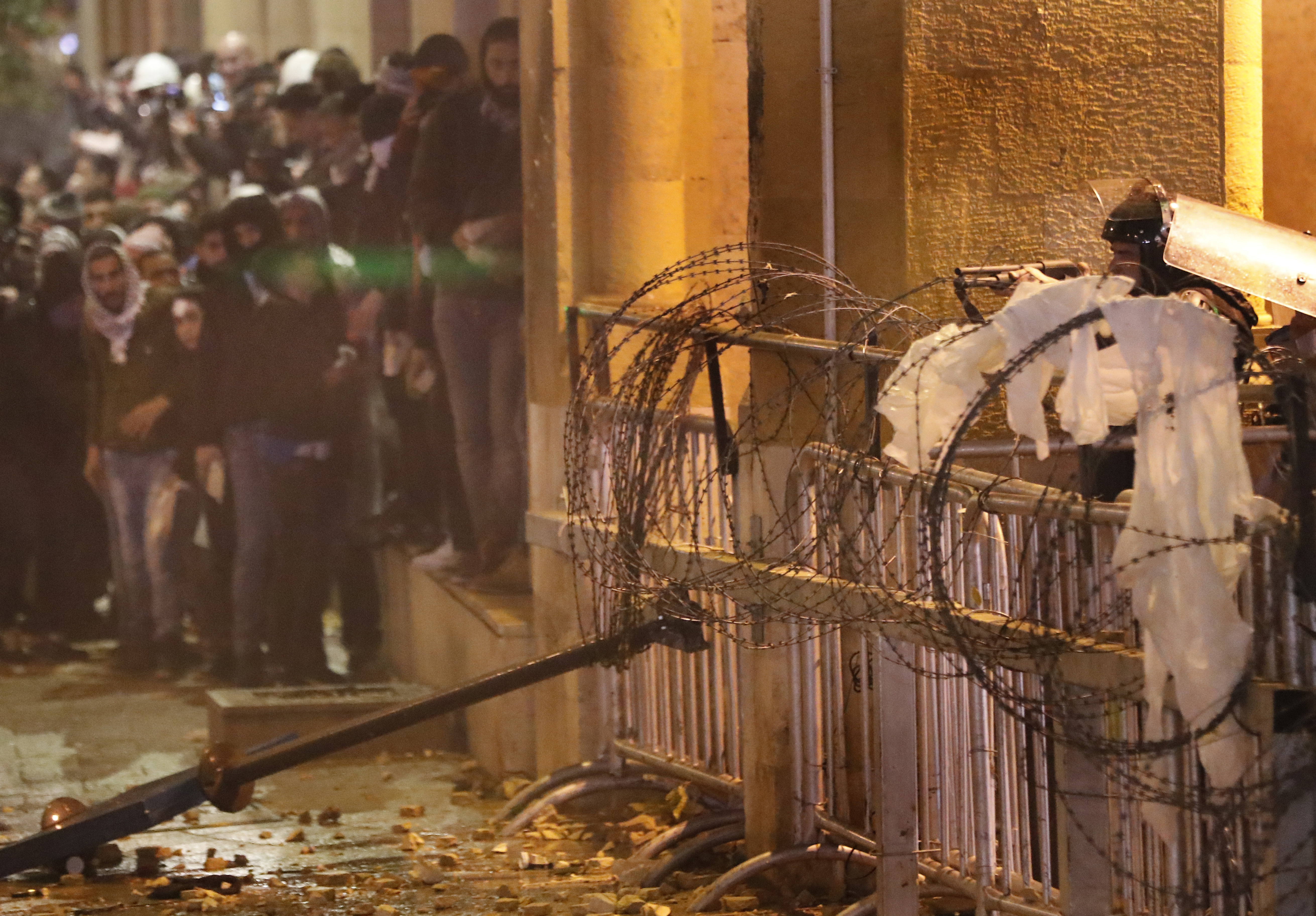 Violence escalates in Beirut as protesters clash with police