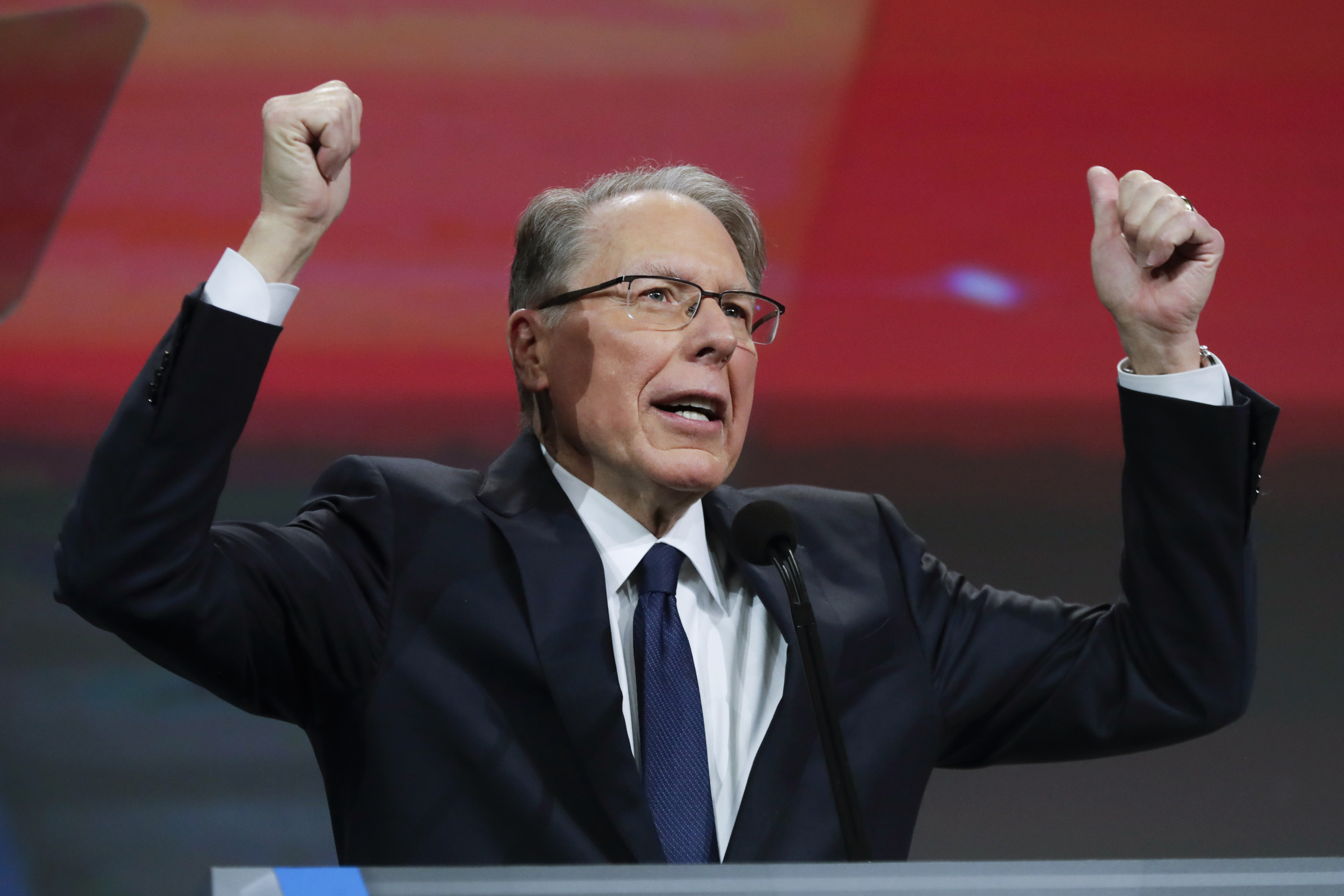 Scandal-ridden NRA head LaPierre digs in against gun control