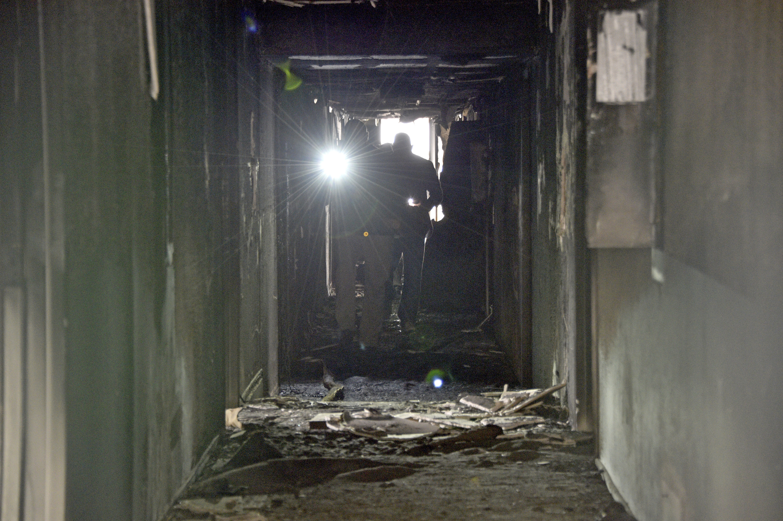 Investigators sift through debris at deadly Las Vegas fire
