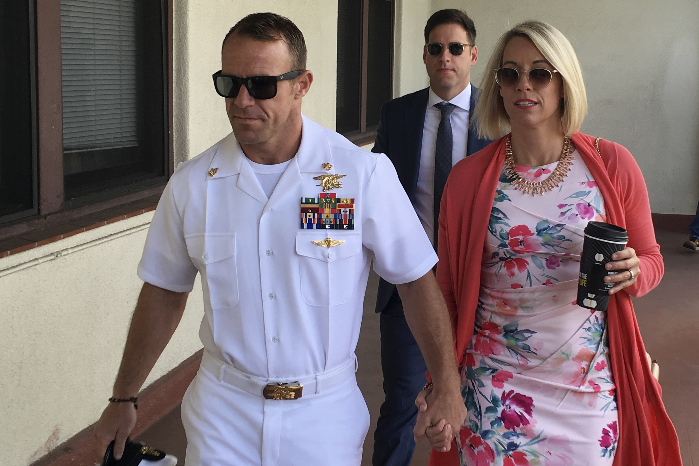 The Latest: Prosecutor: killing shown in Navy SEALs words