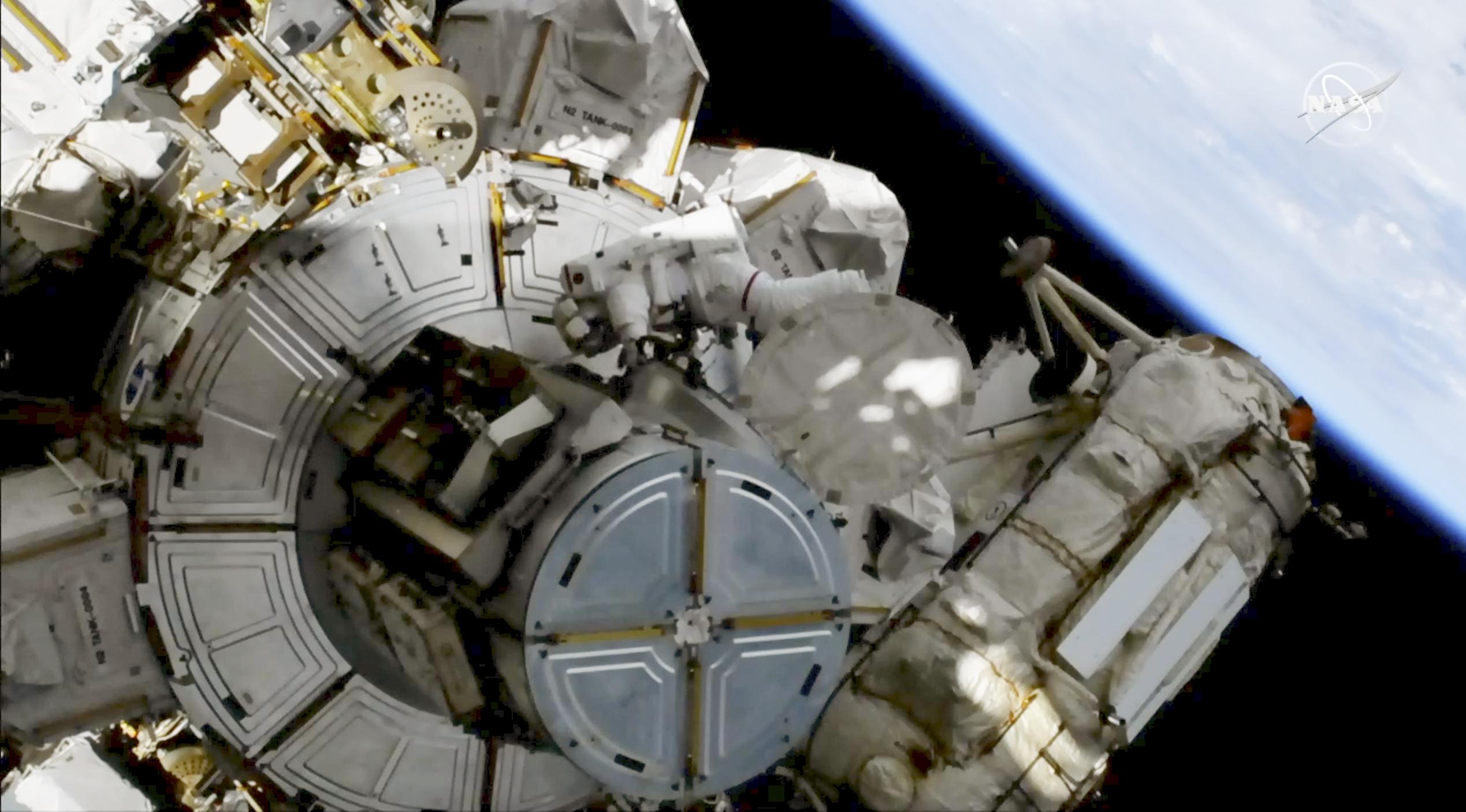 NASA conducts spacewalk as worlds 1st spacewalker dies
