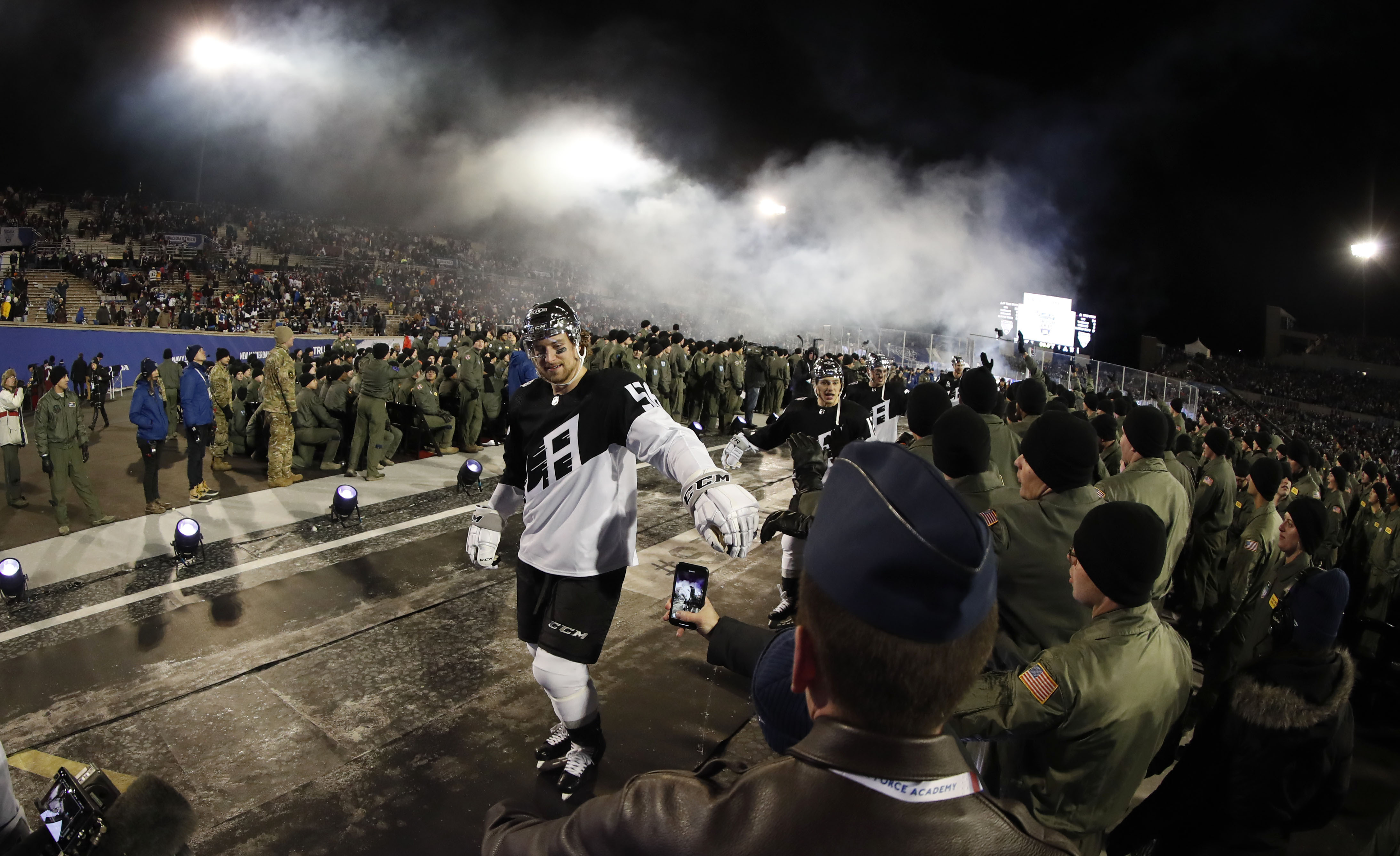Air Force Academy blames accidents for traffic at NHL game