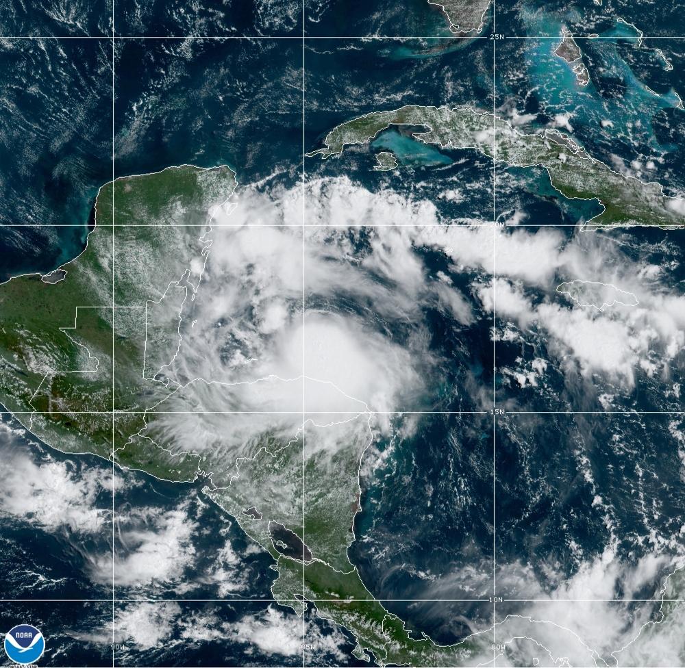 Hurricane Nana hits Belize, then dissipates over Guatemala