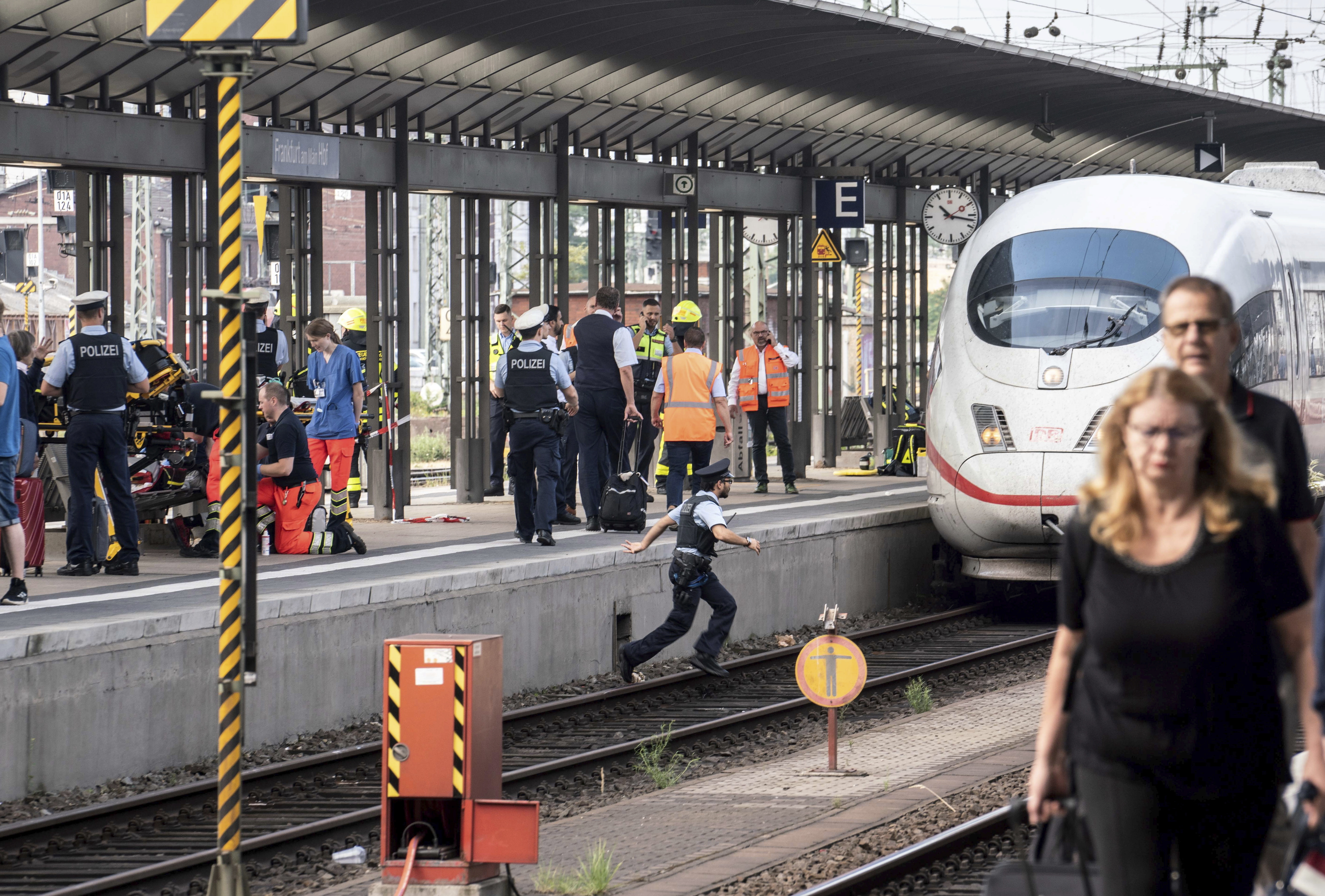 Boy, 8, dies in Germany after being pushed onto train tracks