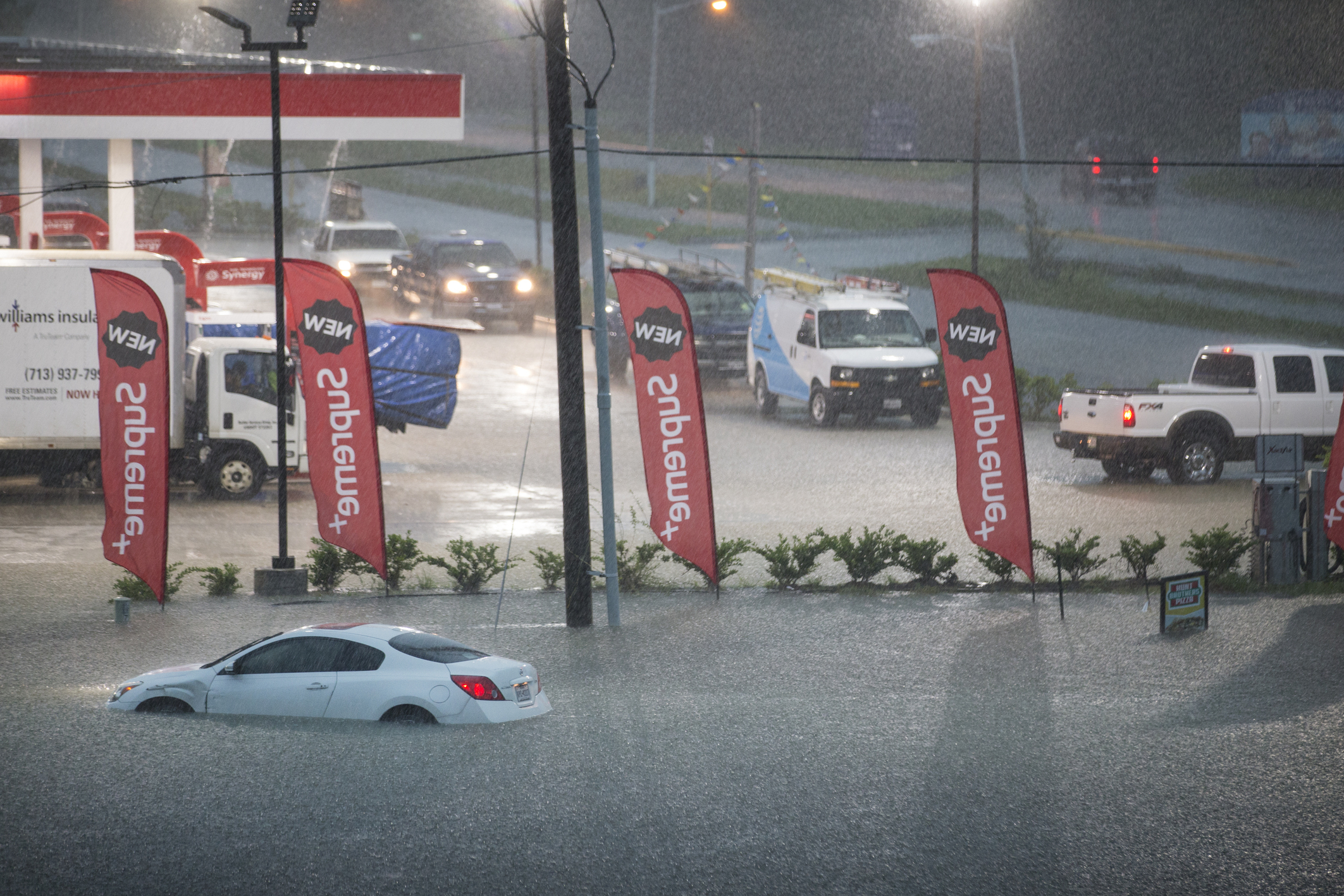 The Latest: Conditions in Houston improve as Imelda departs