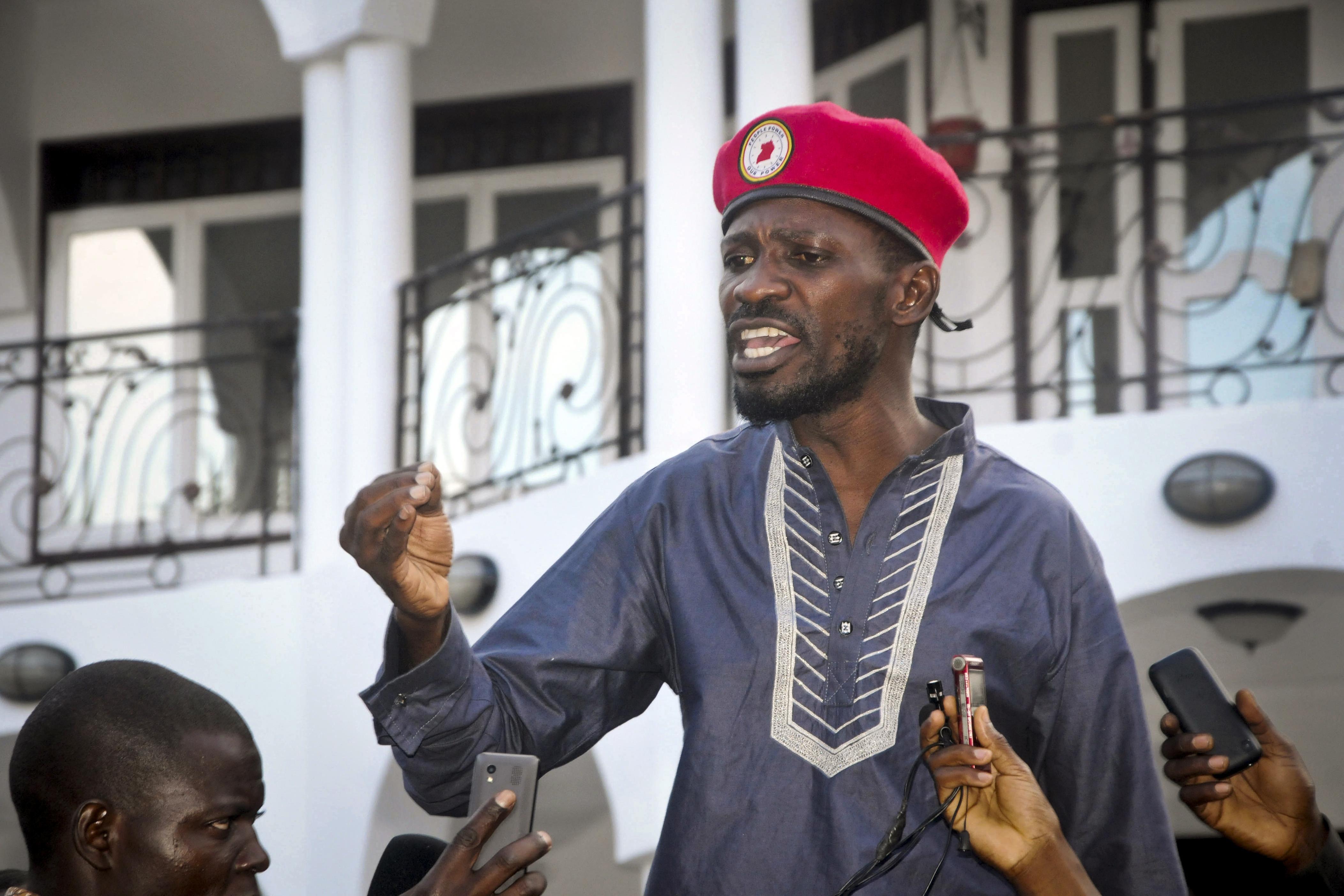 Uganda police detain Bobi Wine, foil meeting with supporters
