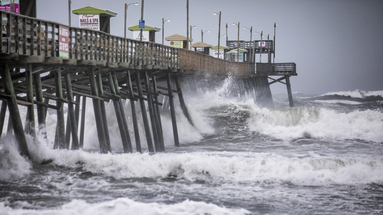 The Latest: Dorian churns north along North Carolina coast