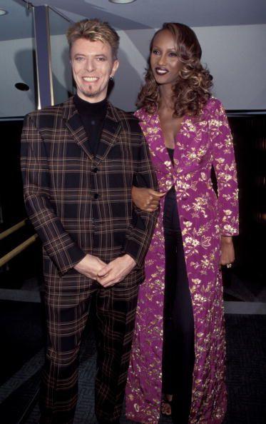 David Bowie(左)及Iman(右)是一對讓人羨慕的時尚夫妻檔。