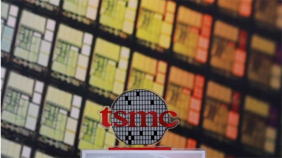 A logo of Taiwan Semiconductor Manufacturing Co (TSMC) is seen at its headquarters in Hsinchu, Taiwan August 31, 2018