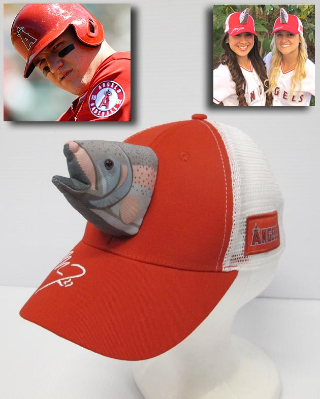 Mike Trout Fish Hats Los Angeles Angels Giving Caps Away June 18