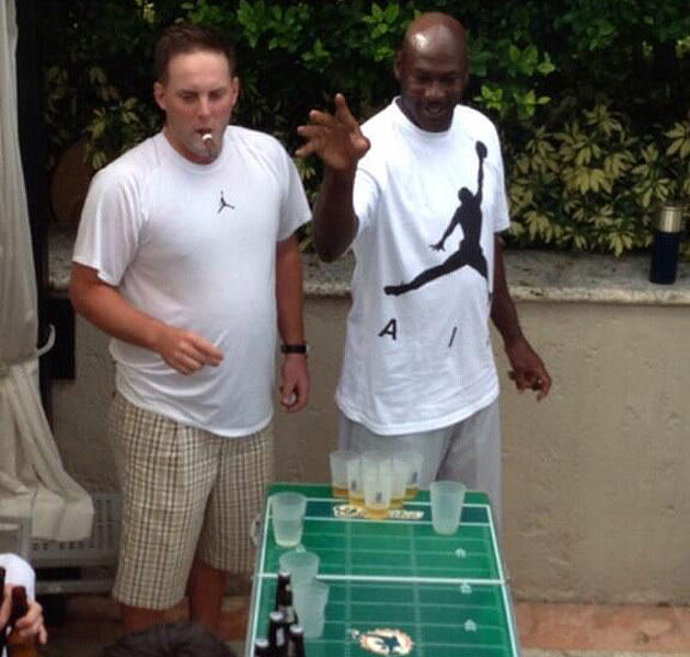 michael jordan at age 50 is spotted playing beer pong at. Black Bedroom Furniture Sets. Home Design Ideas