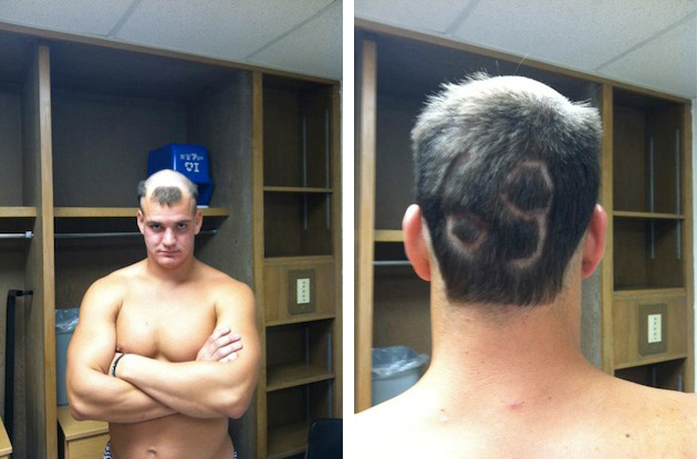 Youngest Gronkowski gets an interesting haircut during his