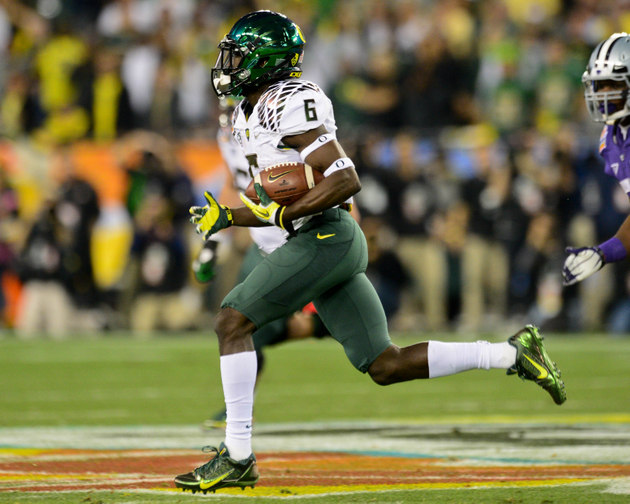 De'Anthony Thomas wins 100 and 200 at Oregon's first ...