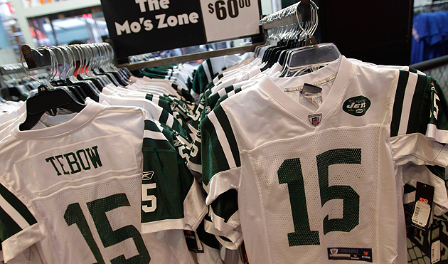 hot sale online f641b b6a91 Nike sues Reebok over Tebow replica jerseys