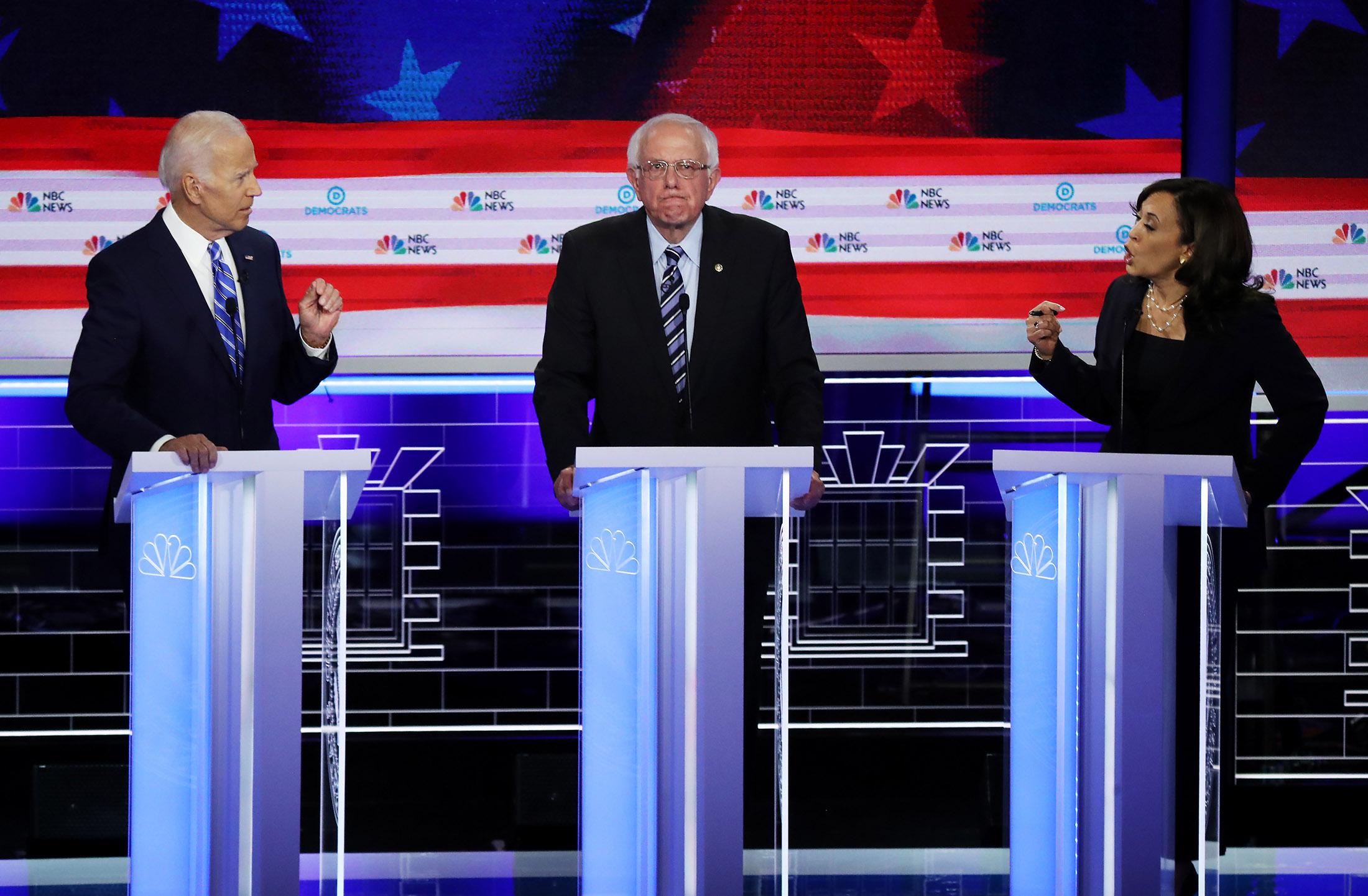 Harris Lights Into Biden as Democratic Debate Turns Testy