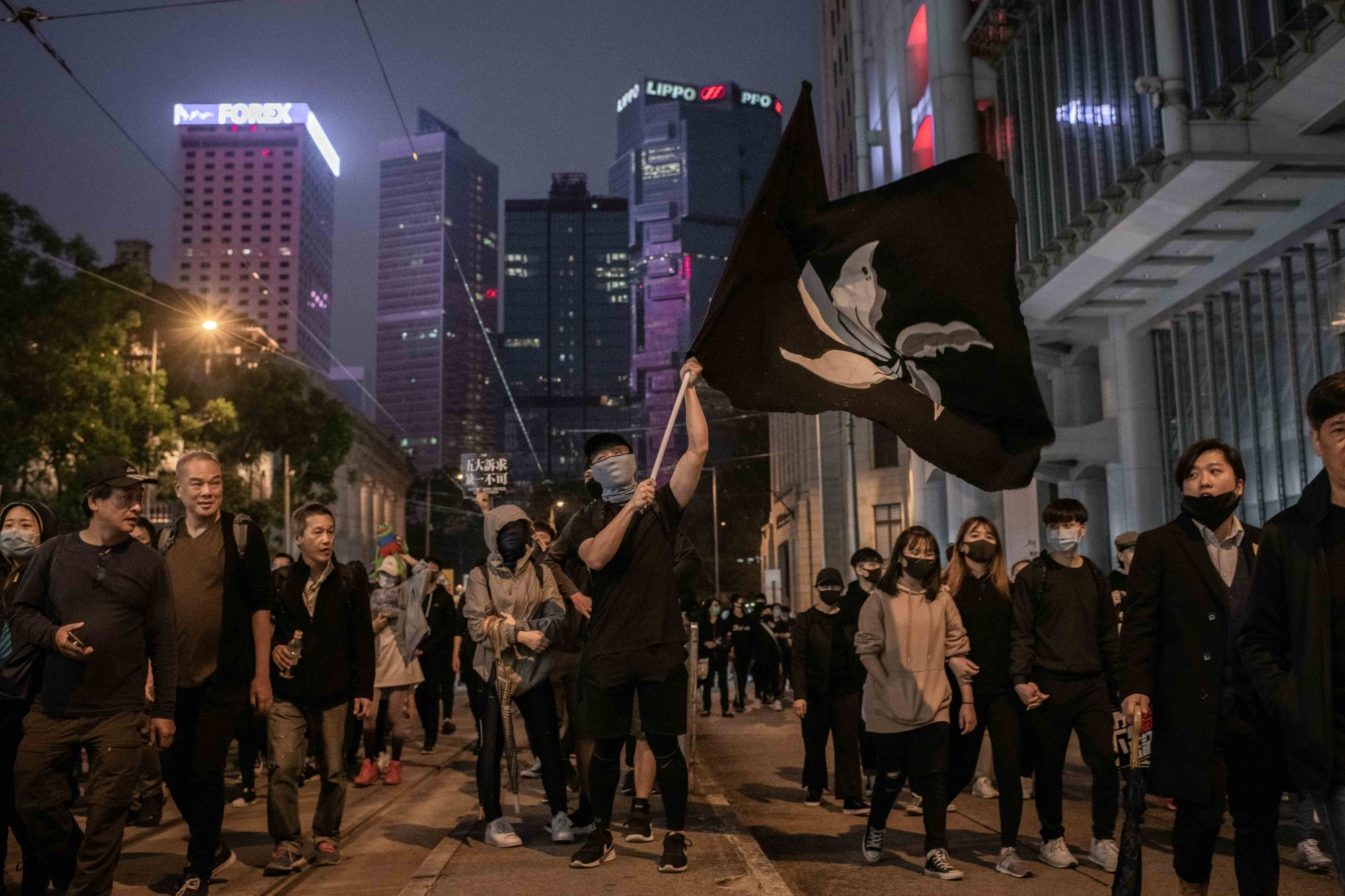 Hong Kong Rings in New Year With Tear Gas, Clashes in Downtown