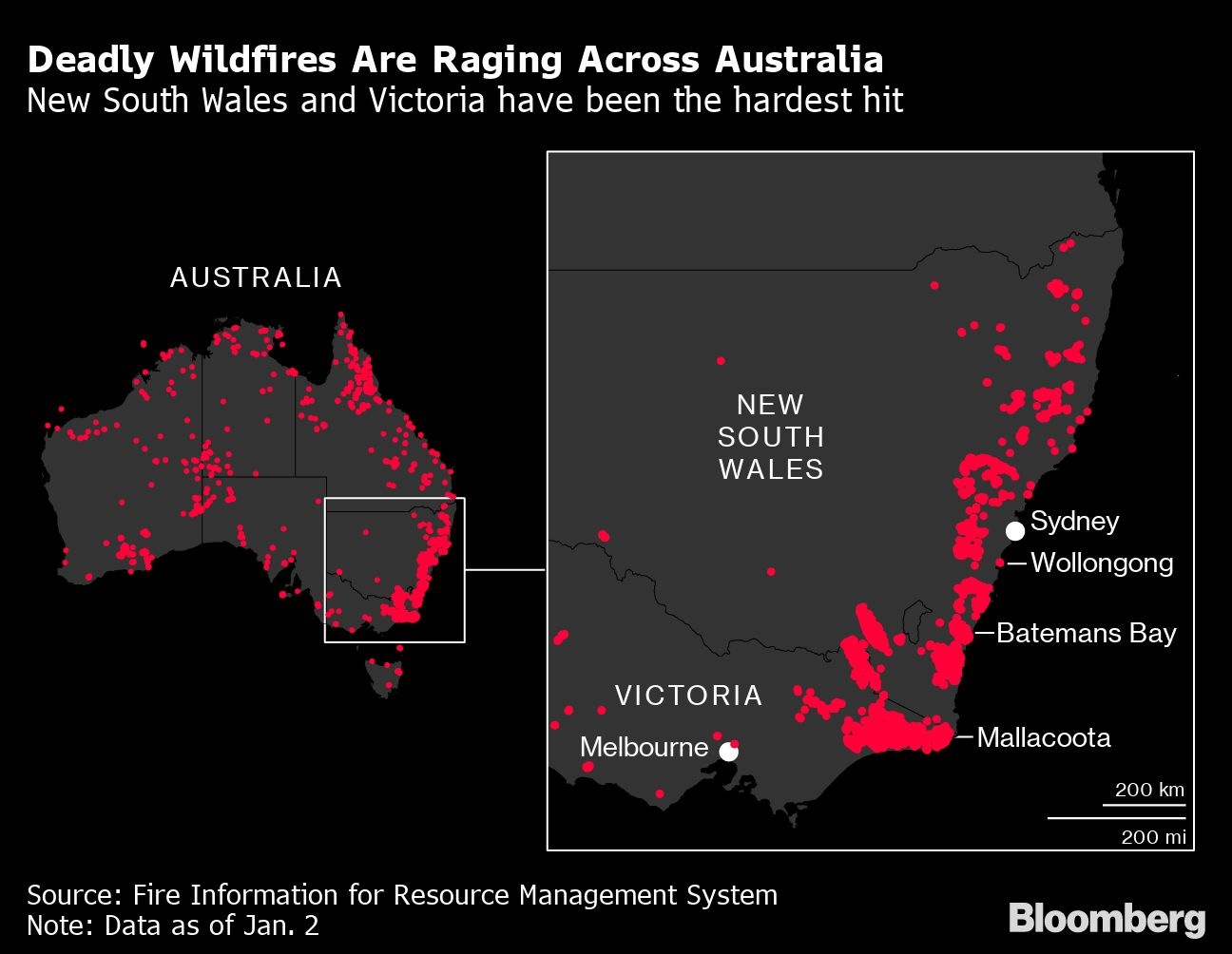 Australia Wildfires End Leader's Post-Election Honeymoon