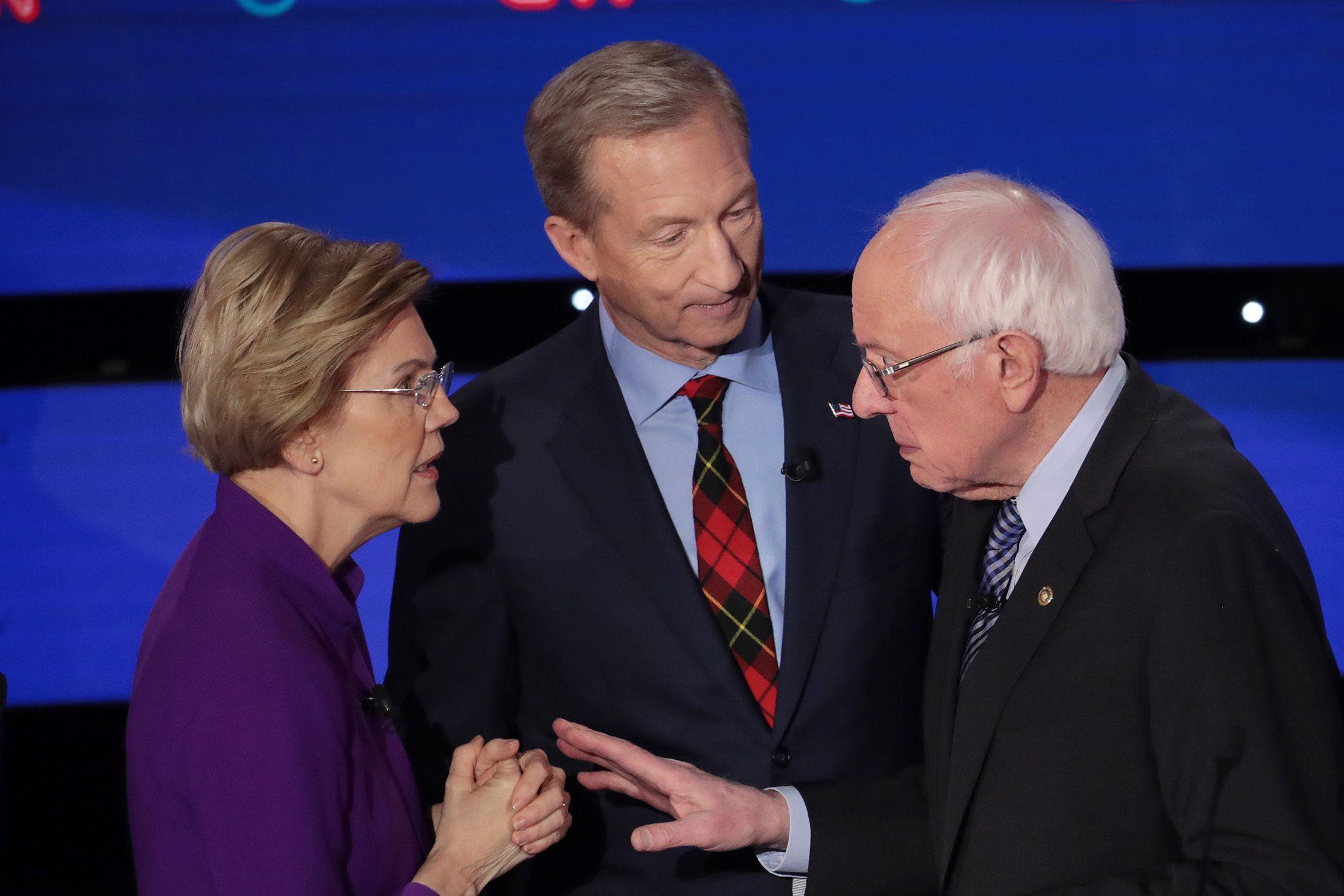 Sanders-Warren Clash on Women Elevates Acrimony in Iowa Debate