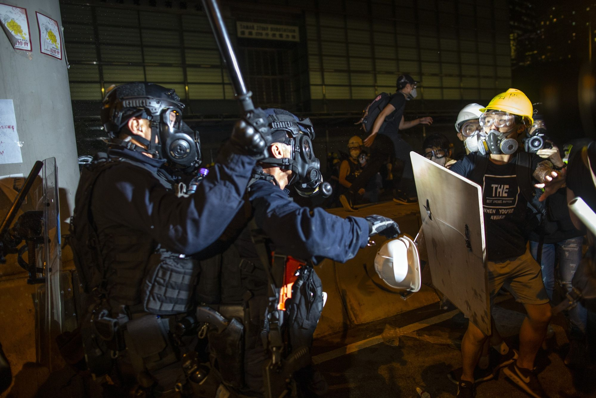 Chinese State Media Seizes on Hong Kong Chaos, Defends Police