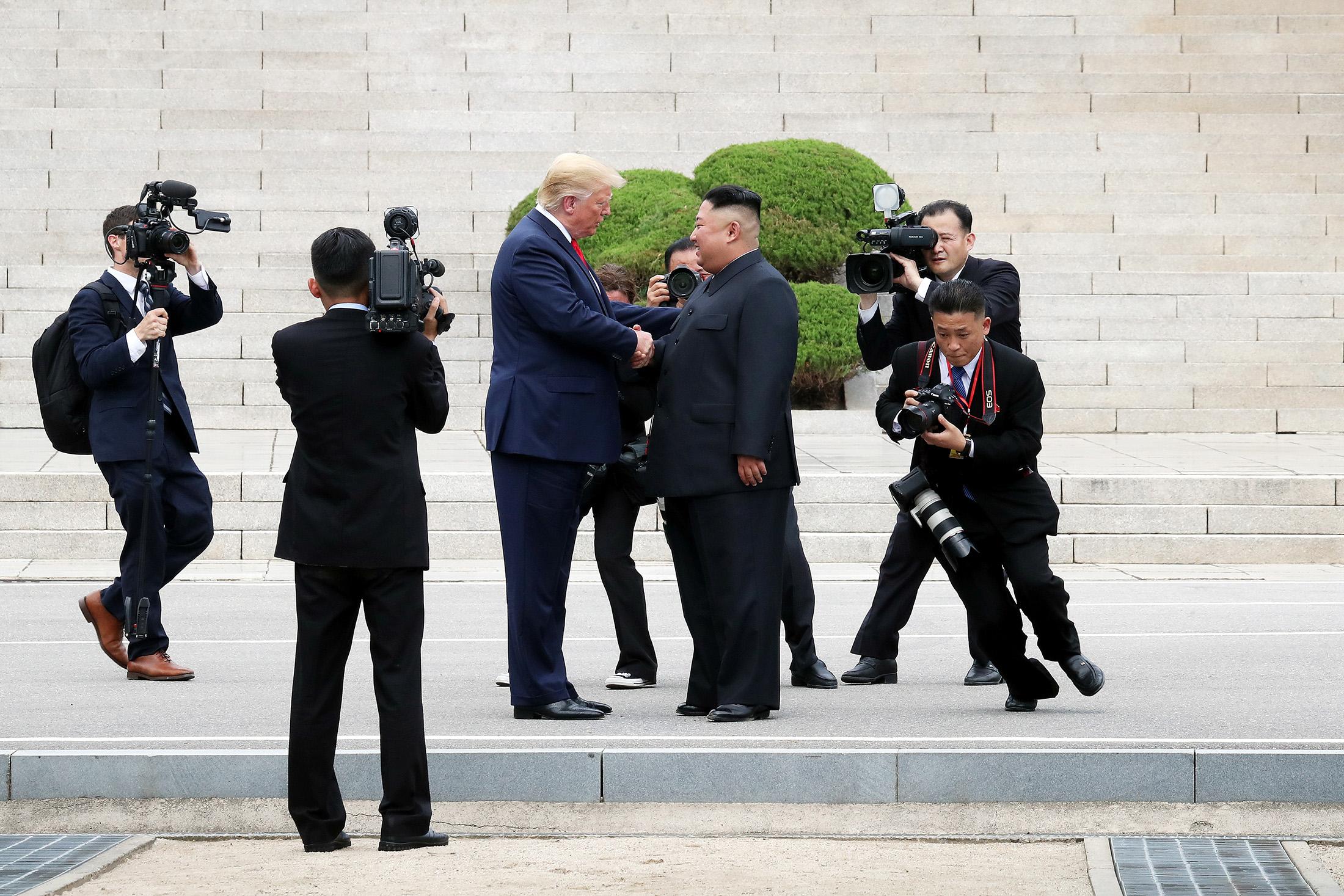 North Korea Media Goes Crazy forTrumps Border MeetingWith Kim