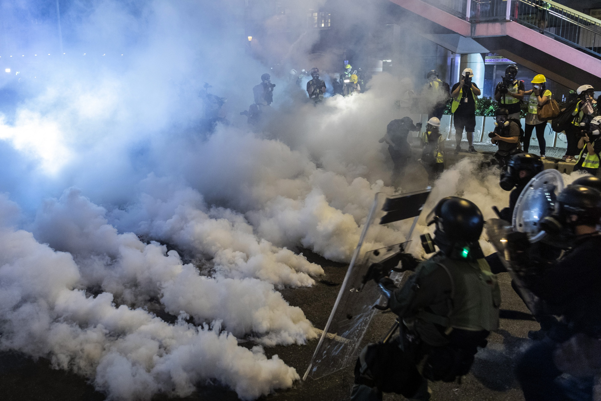 Tear Gas, Attacks and Beijings Warnings Fuel Hong Kong Anxiety