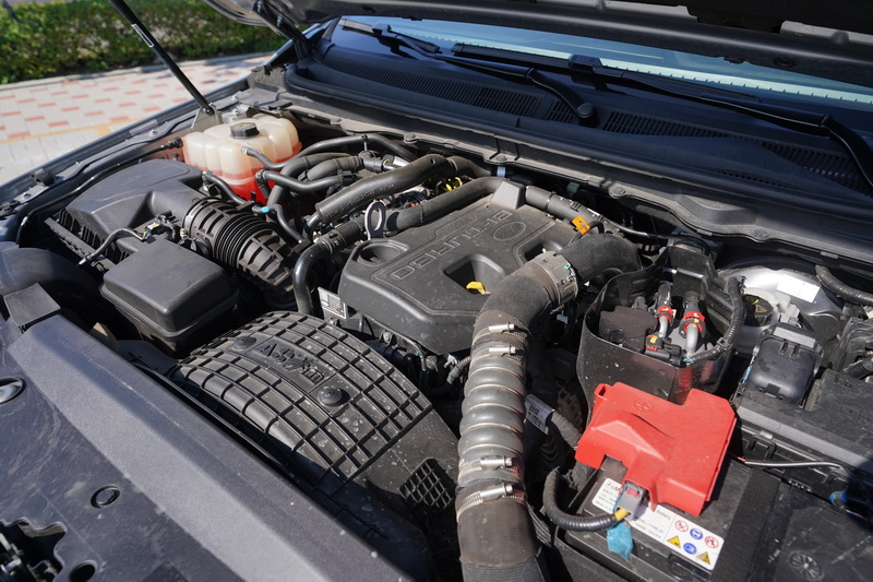 Ranger運動型配置柴油引擎採Bi-Turbo雙渦輪系統,其馬力輸出達到213匹