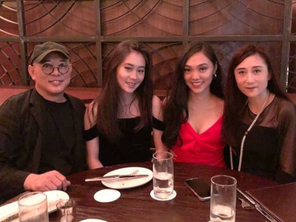 Jet Li seen here with Nina Li (far right) and their daughters.