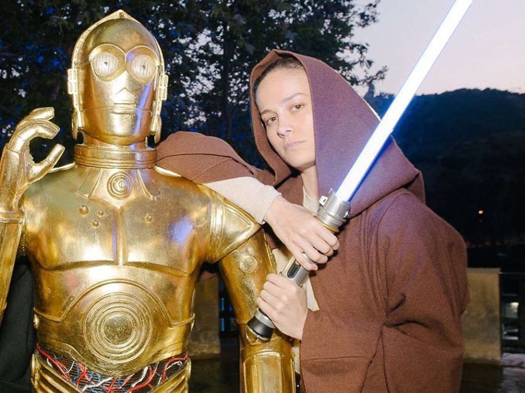 """Brie Larson shared this photo the moment news of Kevin Feige developing a new """"Star Wars"""" movie broke."""