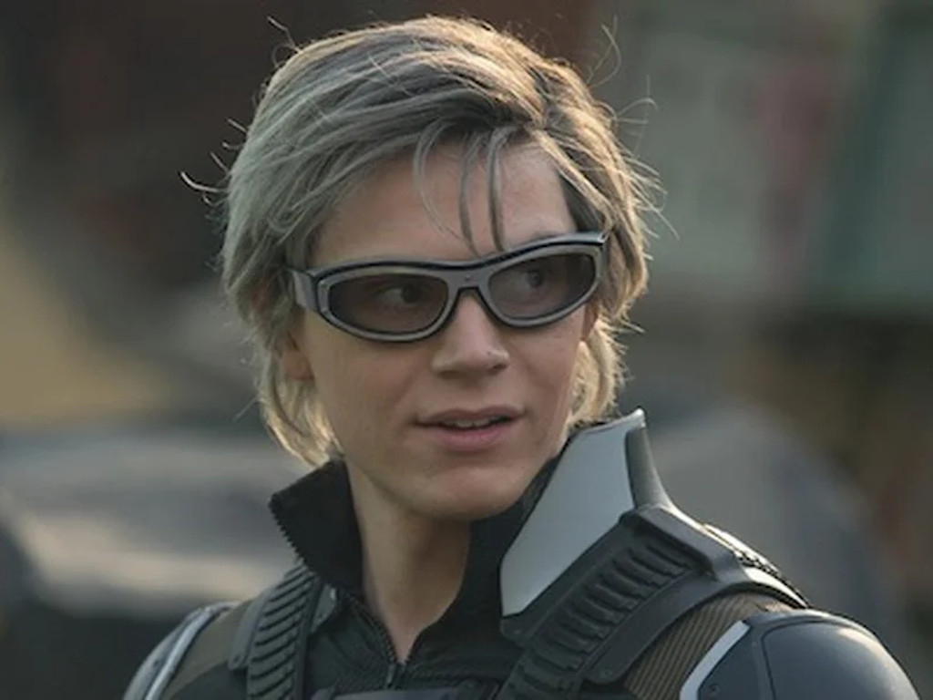 "Evan Peters seen here in his ""X-Men"" Quicksilver role."
