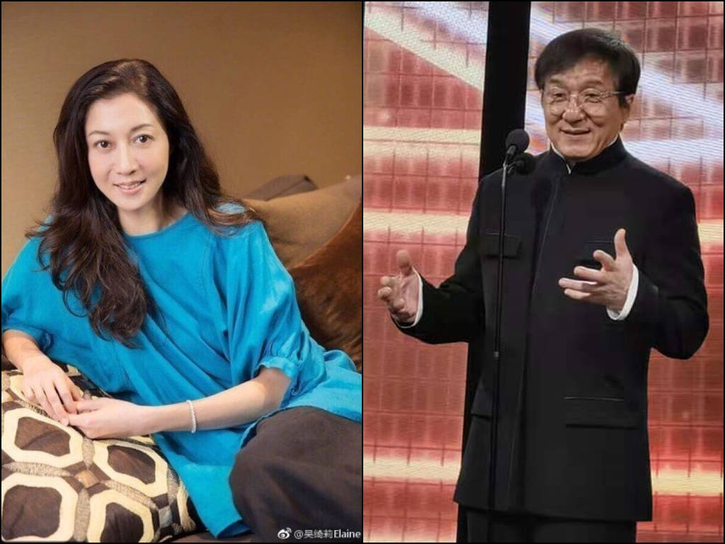 Elaine Ng (L) has denied accepting hush money from Jackie Chan.