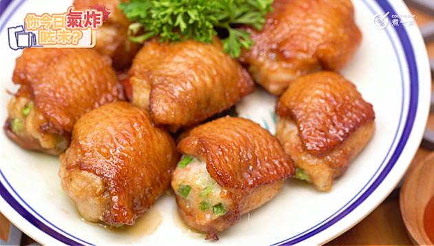 [氣炸鍋食譜] 蝦膠釀雞翼 Chicken wings filled w