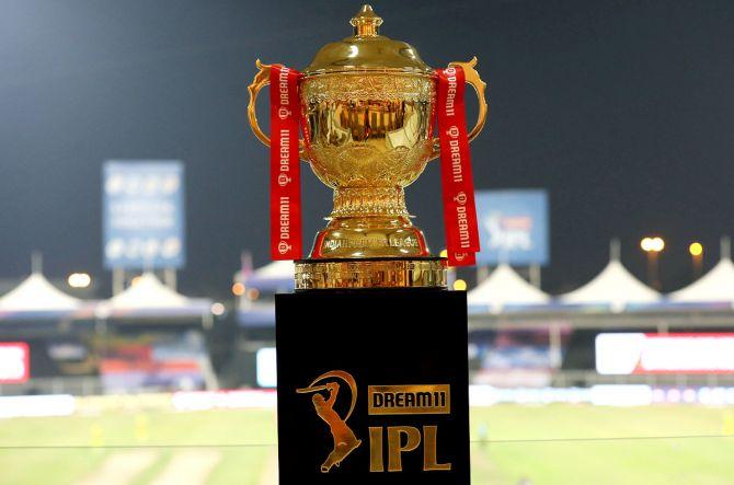 The Indian Premier League 2021 Trophy