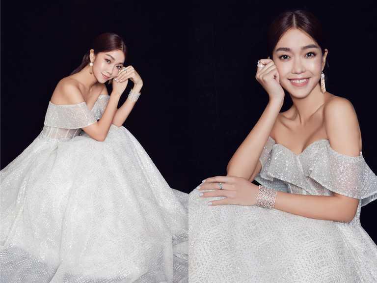 新生代女星李霈瑜(大霈),佩戴伯爵高級珠寶驚艷金馬紅毯及典禮,綻放自信魅力。(圖╱PIAGET提供)
