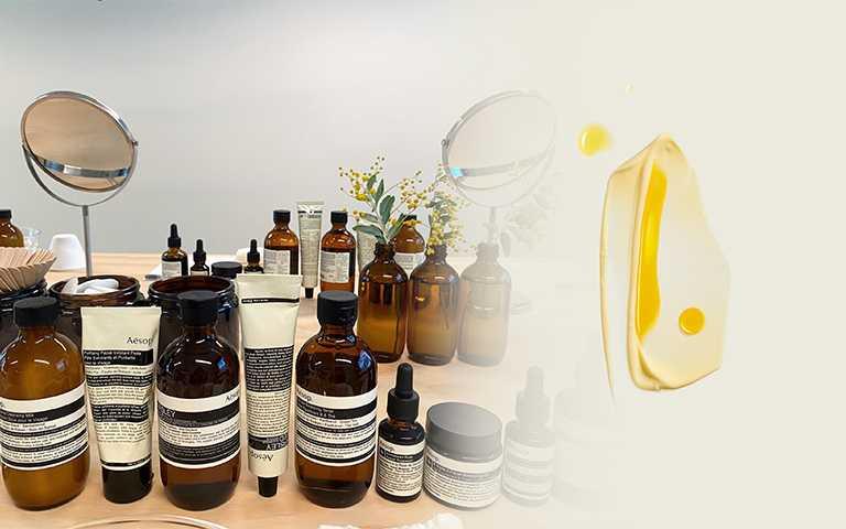 Aesop獨特的肌膚保養方式「調和法Blending」。(圖/彭靖芸拍攝,Aesop提供)