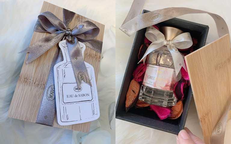 SABON宣言香水禮盒/2,180元台灣獨家設計的精美禮盒。看見喜歡的香水被這麼用心的包裝,不論是誰收到這個禮物都會很開心吧!(圖/吳雅鈴攝影)